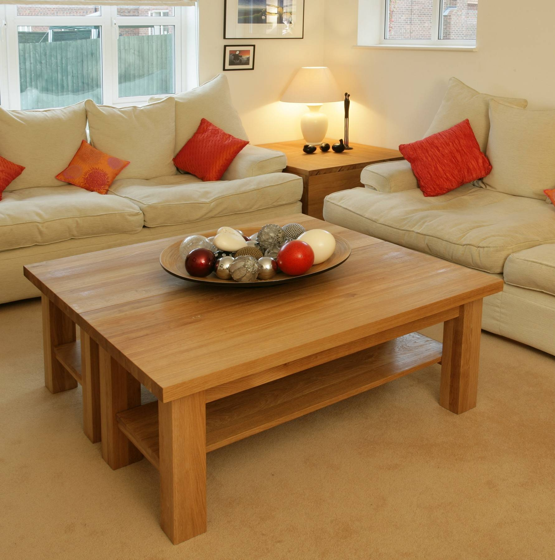 Torino Solid Oak 4Ft Coffee Table | Furniture4Yourhome with regard to Torino Coffee Tables (Image 26 of 30)