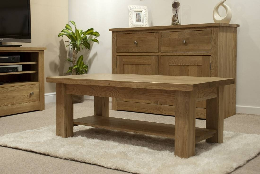 Torino Solid Oak 4X2 Large Coffee Table | Oak Furniture Uk intended for Torino Coffee Tables (Image 27 of 30)