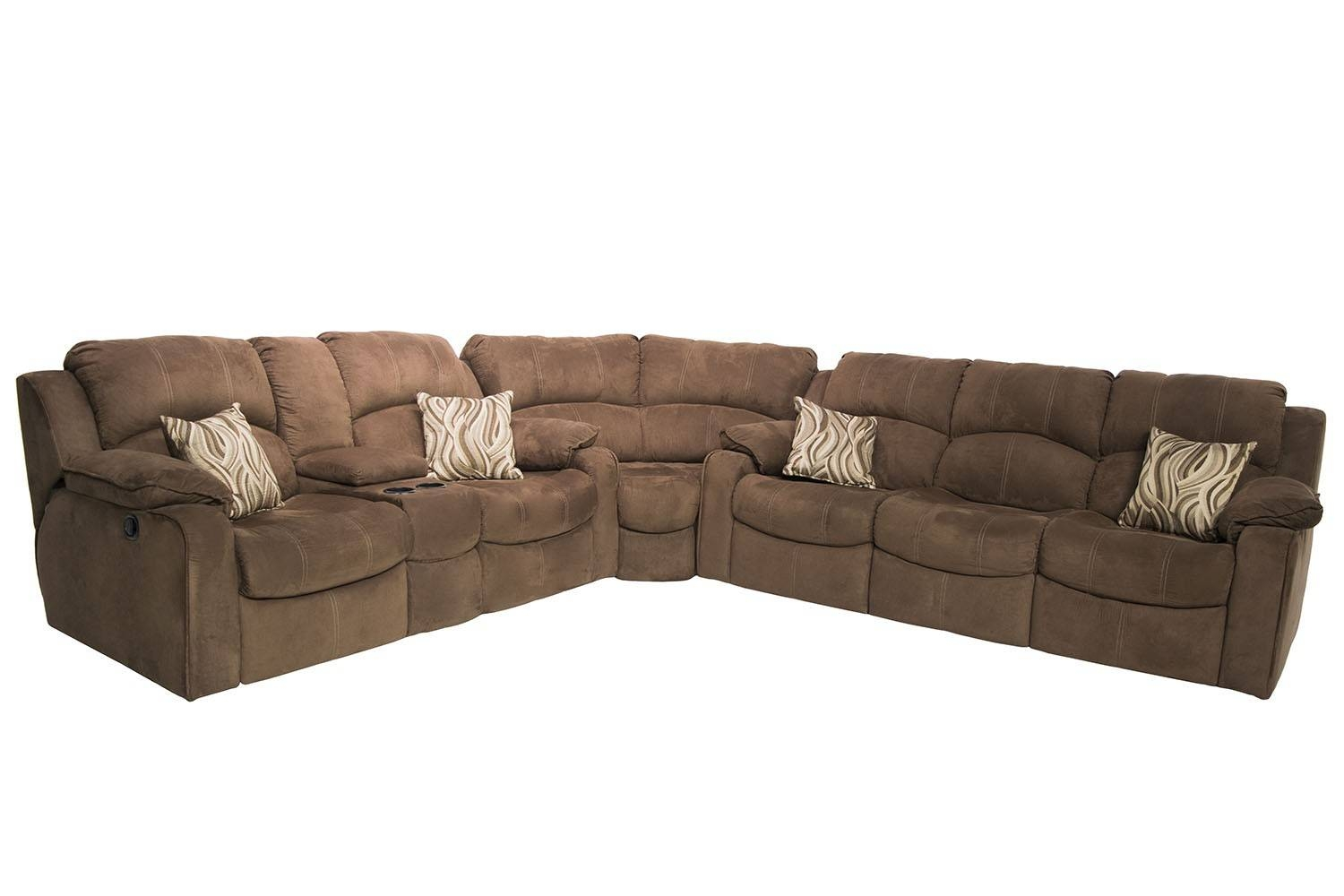 Tornado Reclining Sofa & Power Reclining Loveseat Sectional In regarding Media Sofa Sectionals (Image 24 of 25)