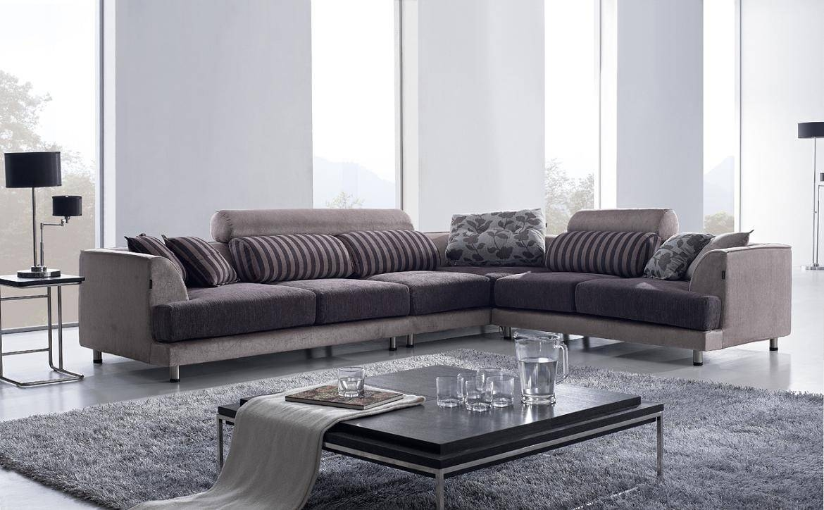 Tosh Furniture Modern Beige Fabric Sectional Sofa W/ Chair - Flap regarding Fabric Sectional Sofa (Image 30 of 30)