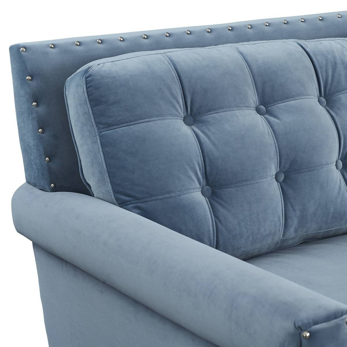 Tov Furniture Jonathan Blue Velvet Sofa S75 At Homelement within Jonathan Sofa (Image 23 of 25)