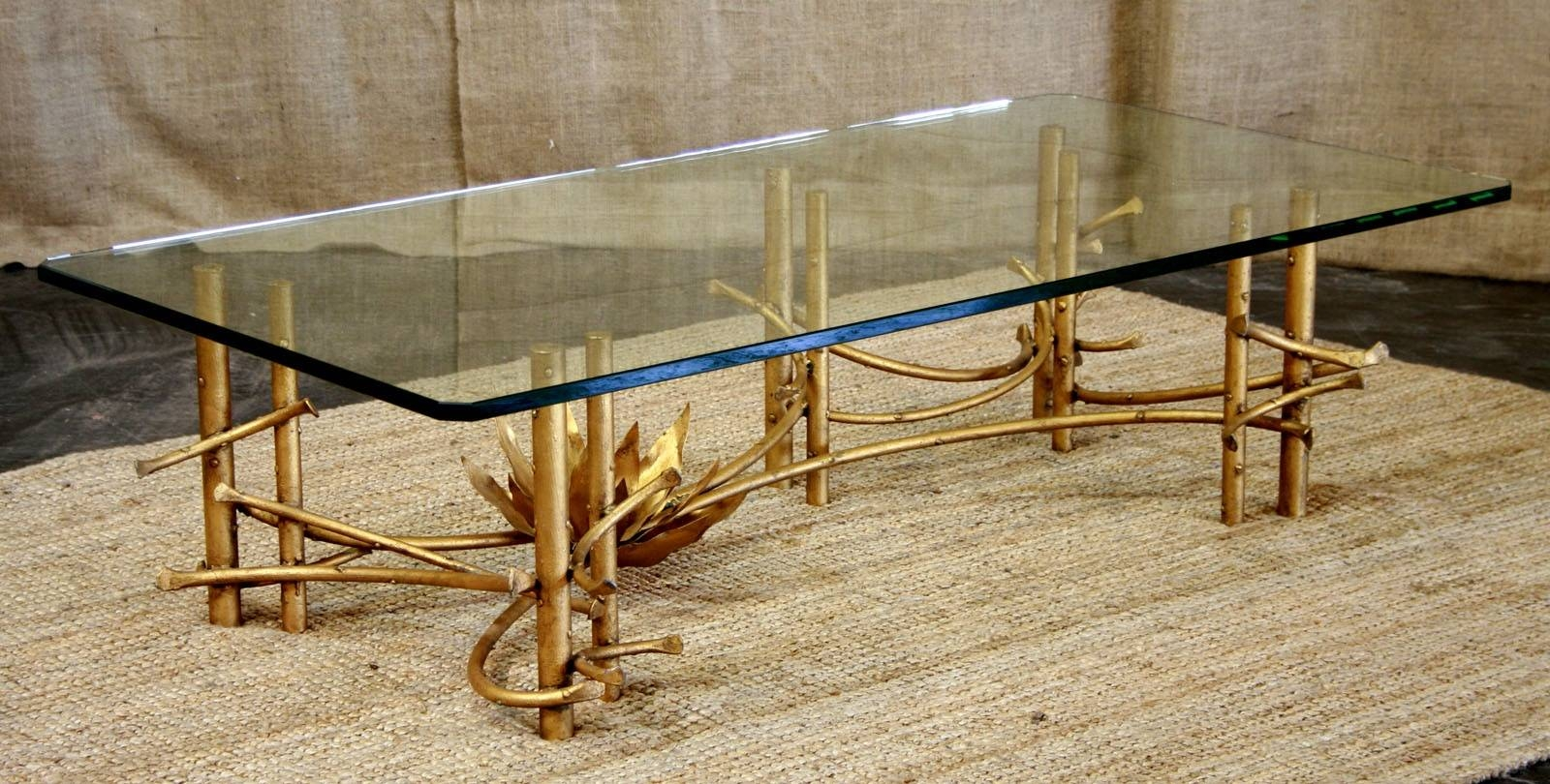 Townsend Coffee Table - Szahomen throughout Gold Bamboo Coffee Tables (Image 30 of 30)