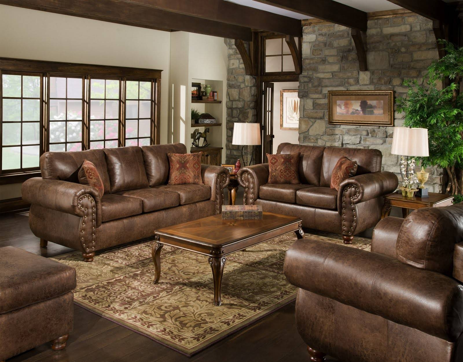 Traditional Indian Living Room Designs Leathe Armchair Brown Wall throughout Indian Coffee Tables (Image 30 of 30)