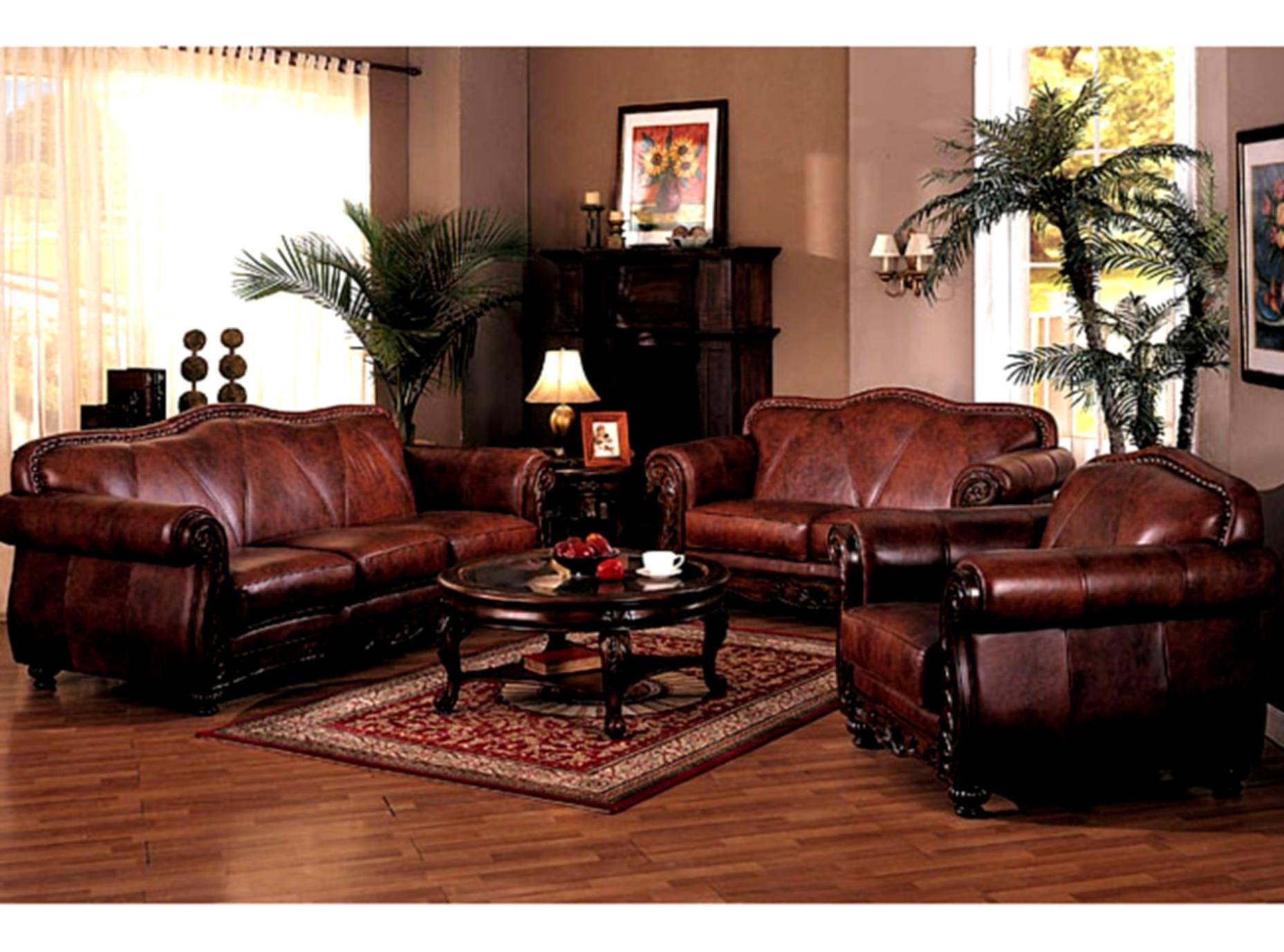 Traditional Living Room Sofa - Carameloffers intended for Traditional Leather Couch (Image 24 of 30)