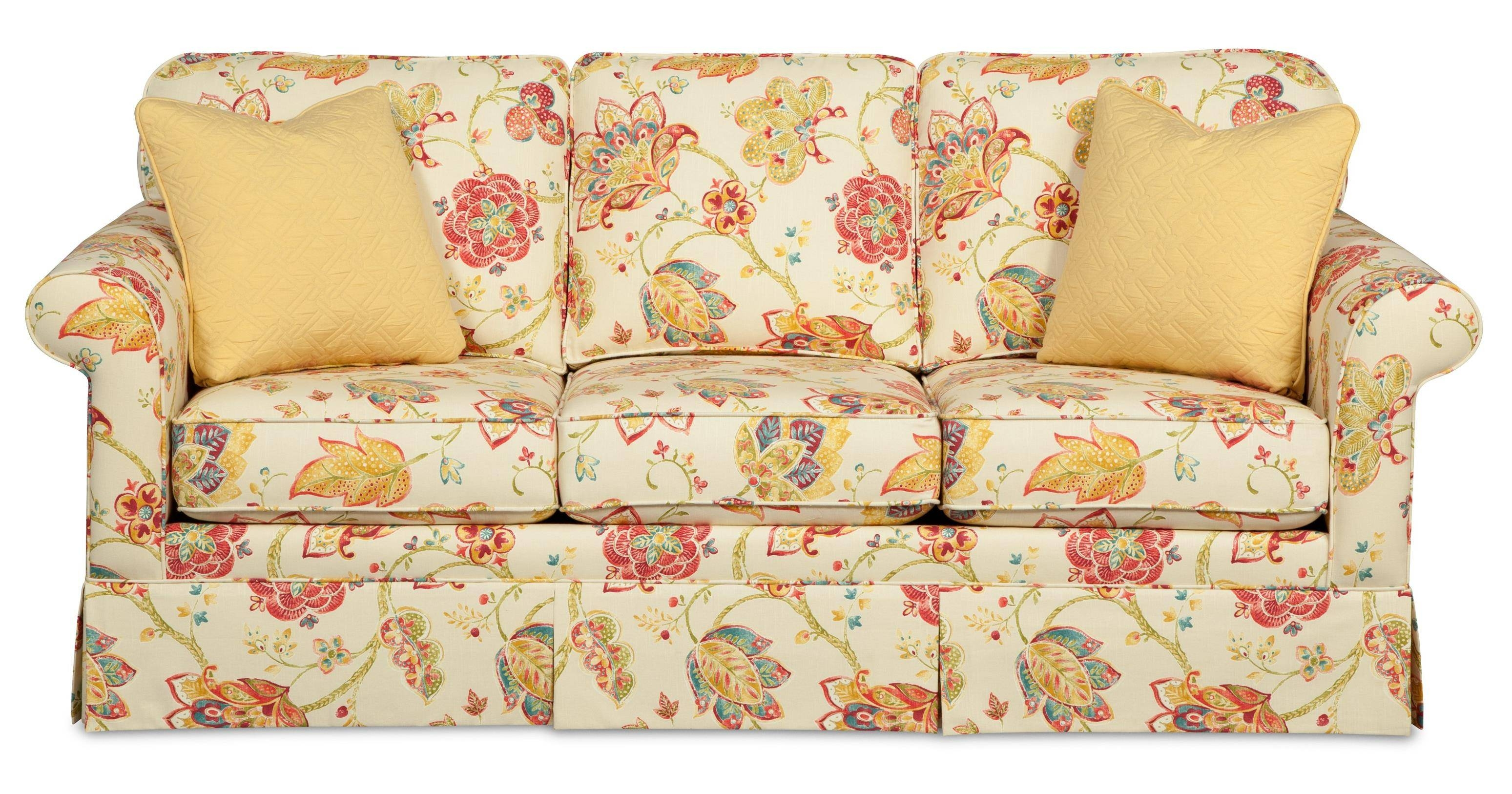 Traditional Sofas With Skirts | Tehranmix Decoration intended for Yellow Chintz Sofas (Image 30 of 30)
