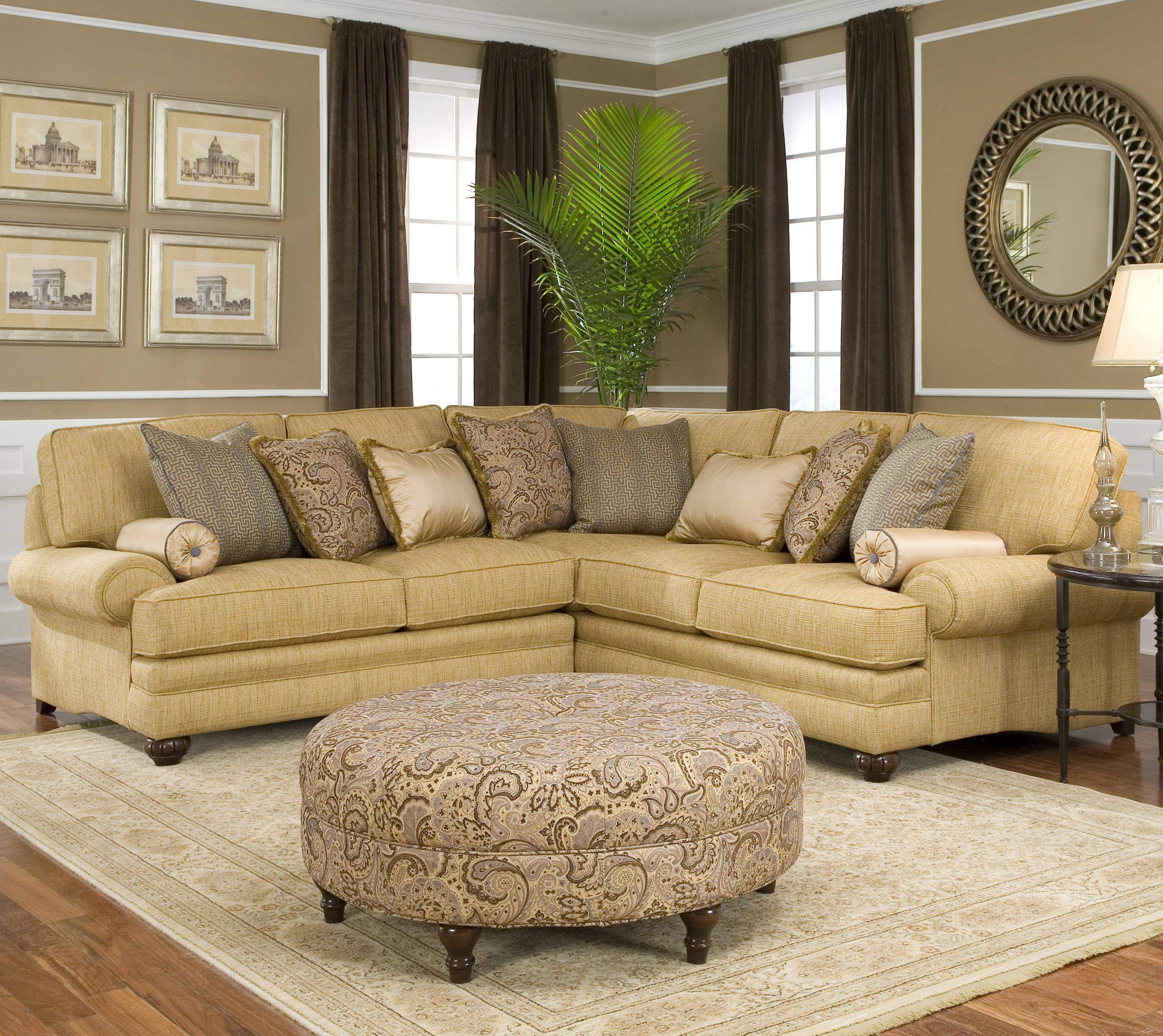 Traditional Styled Corner Sectional Sofasmith Brothers | Wolf pertaining to Traditional Sectional Sofas (Image 23 of 25)