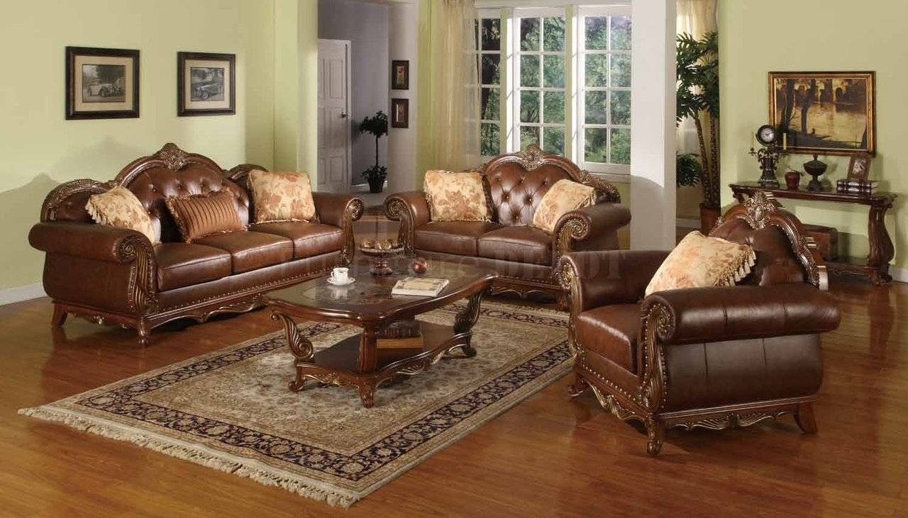 Traditional Wooden Sofa Set Designs Couch Traditional Sofas And throughout Traditional Leather Couch (Image 28 of 30)