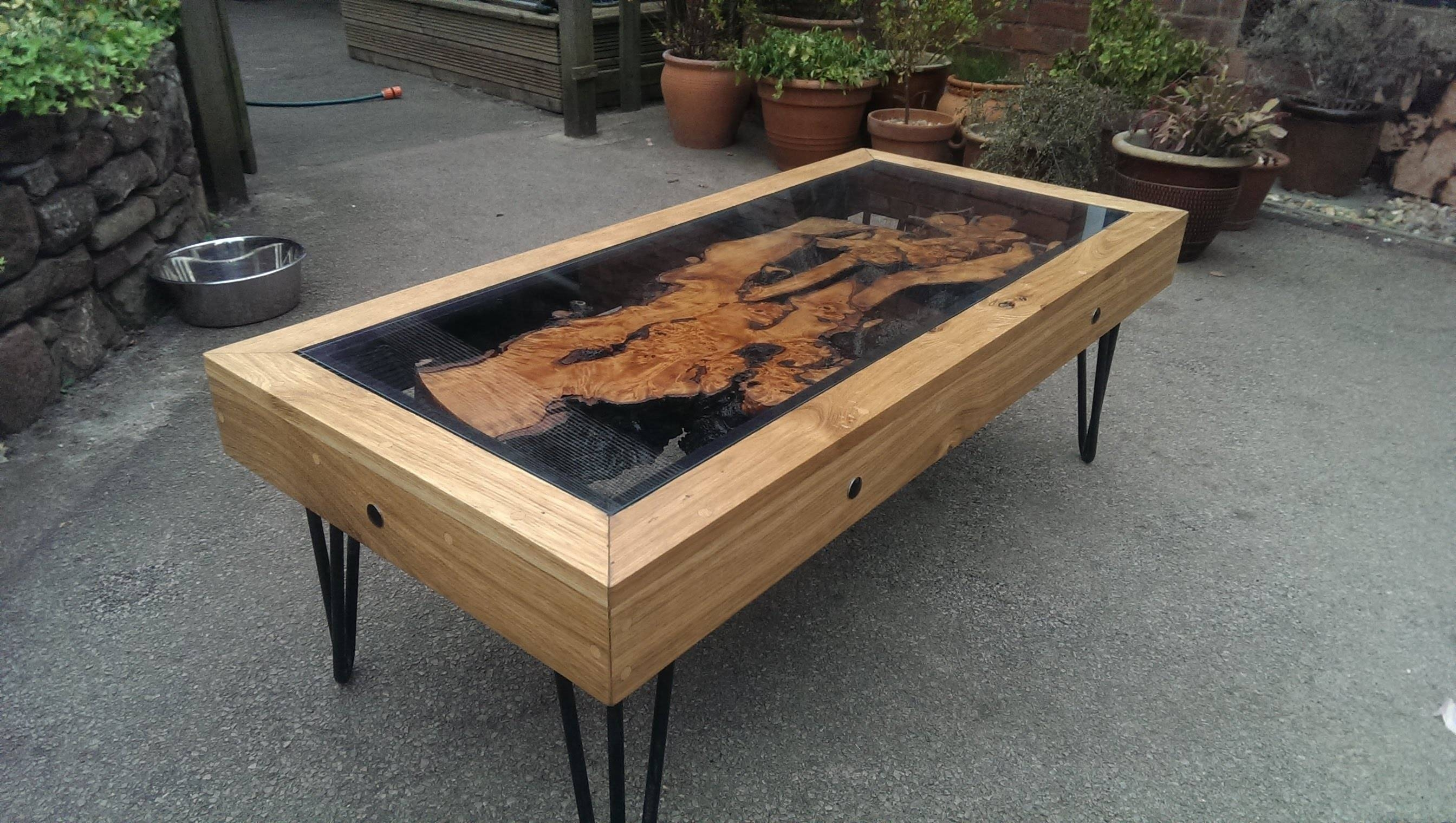 Tree Root, Oak And Glass Coffee Table: Reborn From Disaster inside Oak And Glass Coffee Tables (Image 28 of 30)