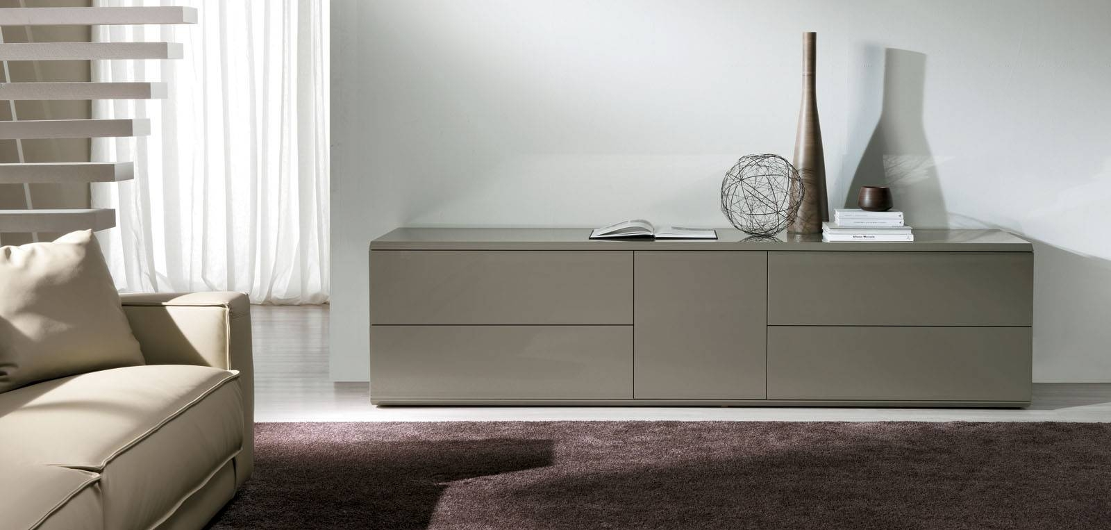 Tremendous Modern Dark Grey Sideboard Design With Two Cabinet inside Modern Living Room Sideboards (Image 29 of 30)