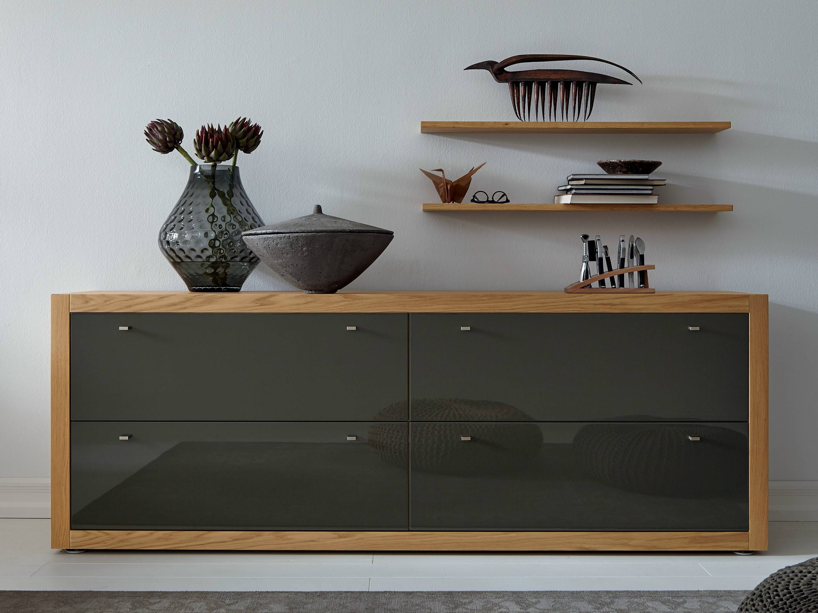 Tremendous Modern Dark Grey Sideboard Design With Two Cabinet within Unfinished Sideboards (Image 30 of 30)