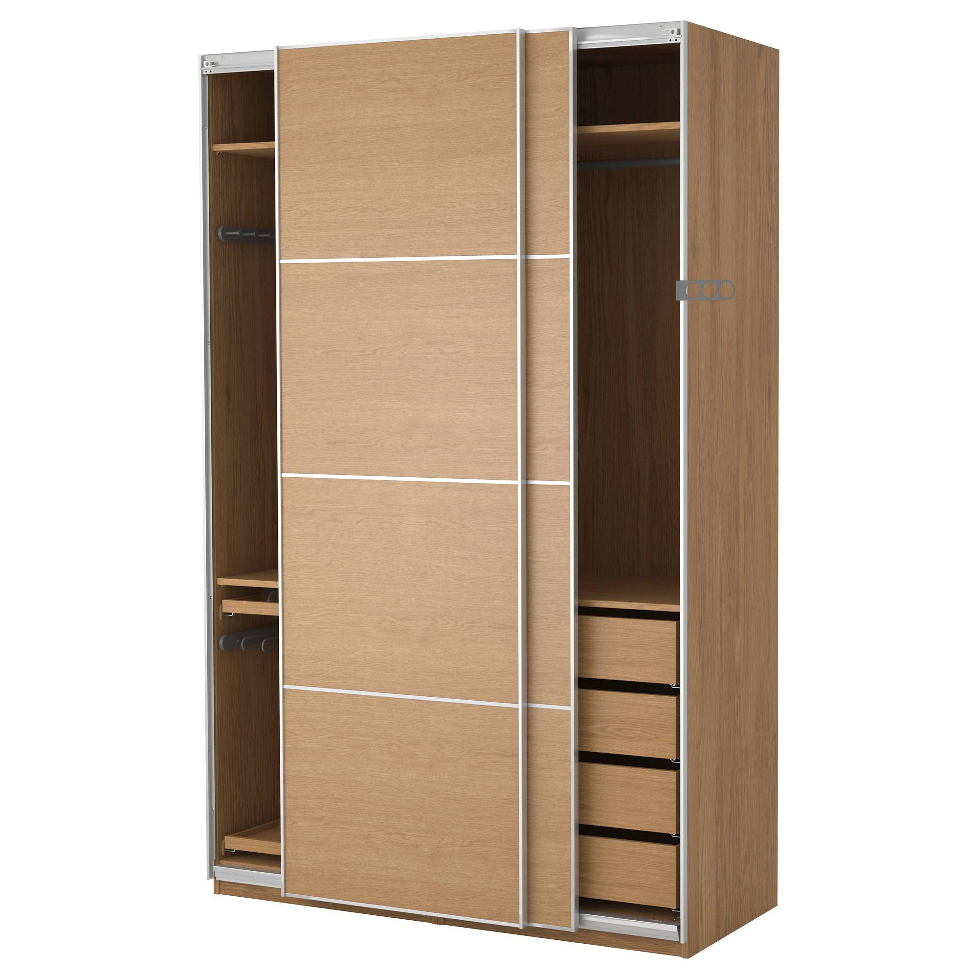 Tremendous Wooden Wardrobe Closet Ikea | Roselawnlutheran in Dark Wood Wardrobe Sliding Doors (Image 26 of 30)