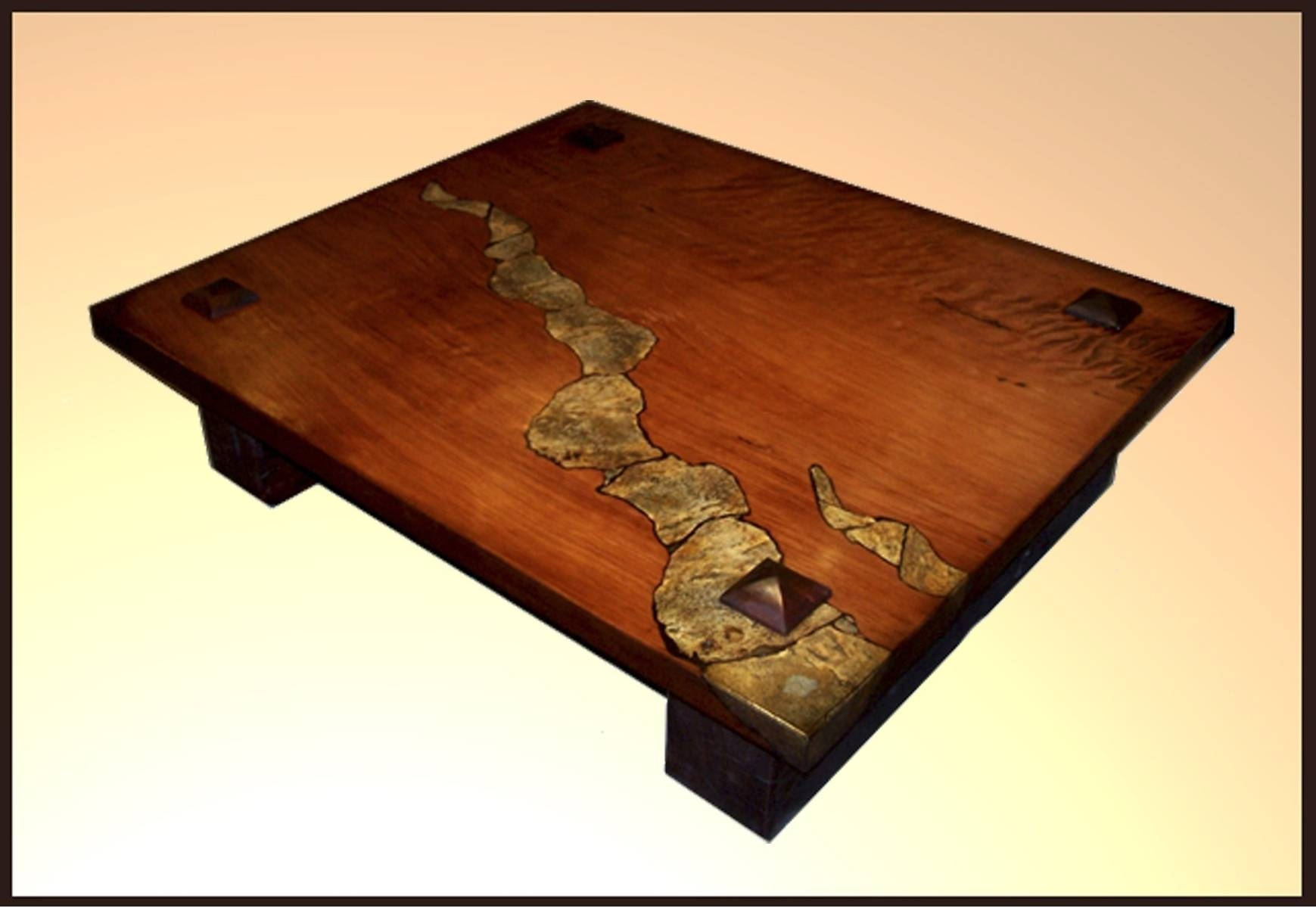 Trendy Black Iron Base Frames Square Stone Coffee Table With Inside Square Stone Coffee Tables (View 22 of 30)