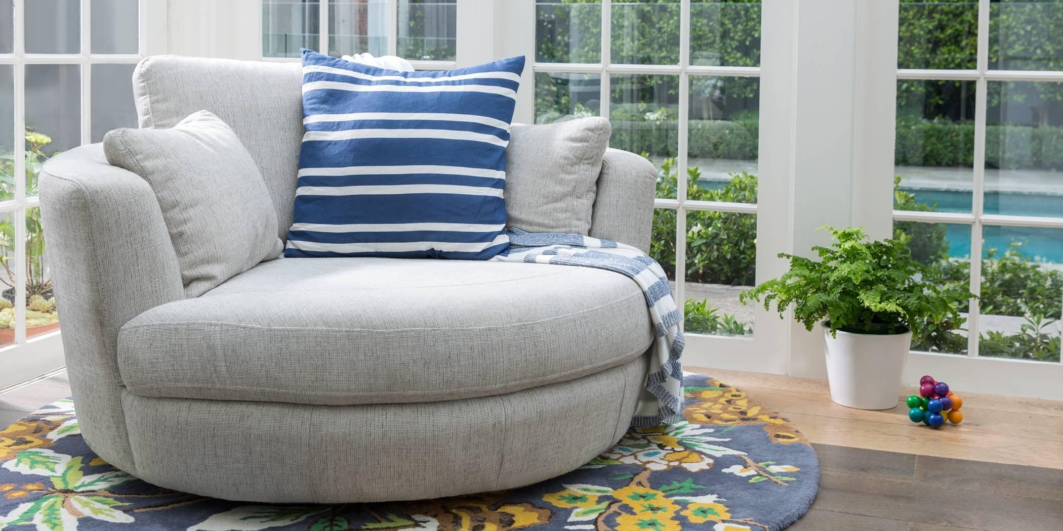 Trendy Round Swivel Sofa Chair L157 Alba Modern Leather Lounge Dsc with Round Swivel Sofa Chairs (Image 28 of 30)