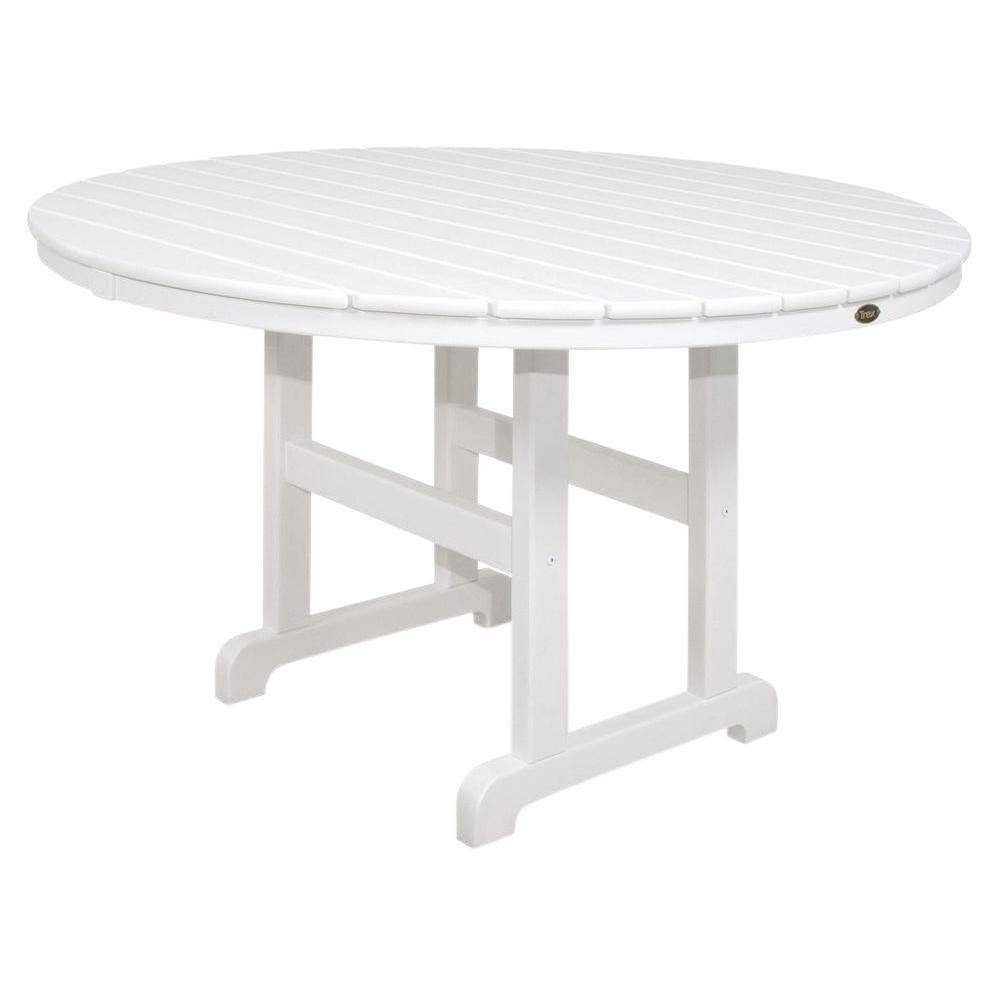 Trex Outdoor Furniture Monterey Bay 48 In. Classic White Round in Monterey Coffee Tables (Image 29 of 30)