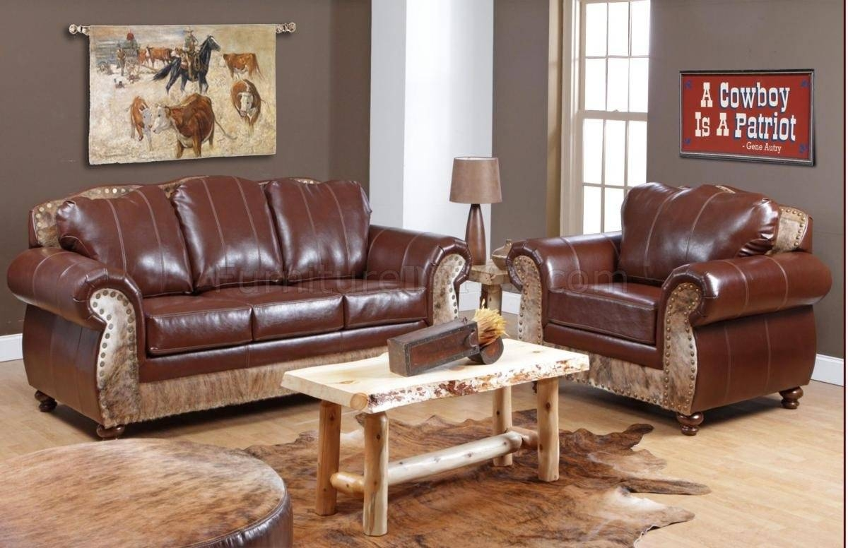 Tri-Tone Top Grain Leather Classic Chair & Sofa Set W/options with Full Grain Leather Sofas (Image 30 of 30)