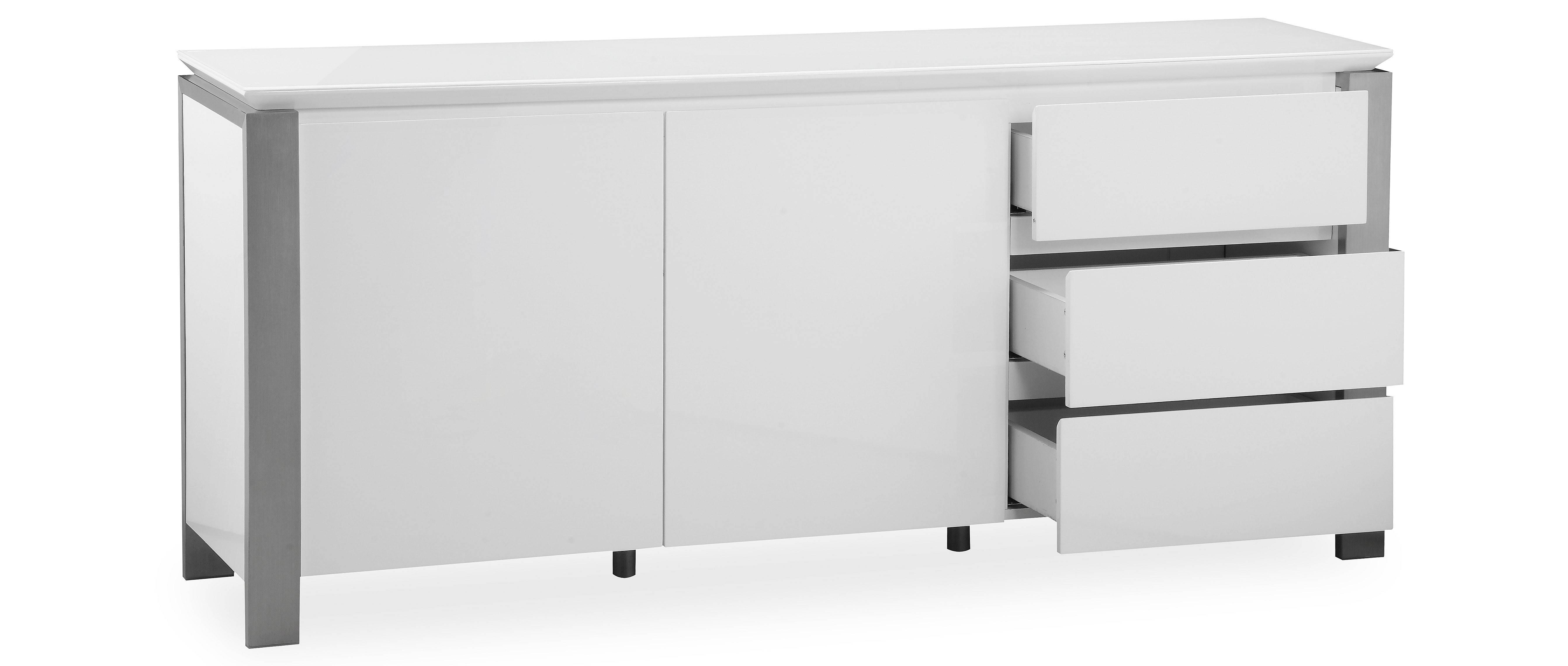 Tribeca - Extra Large Sideboard - White High Gloss within White High Gloss Sideboards (Image 28 of 30)