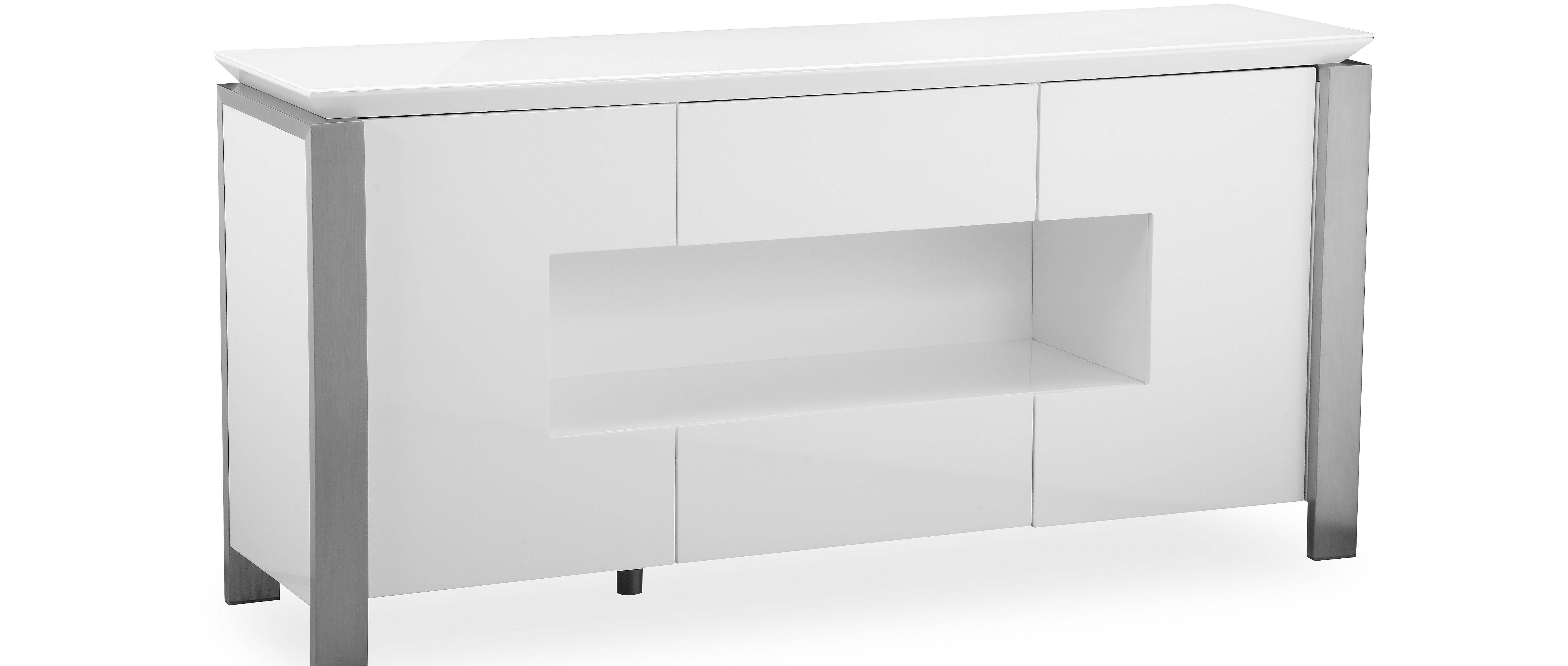 Tribeca - L.e.d. Display Sideboard - White High Gloss throughout White High Gloss Sideboards (Image 29 of 30)