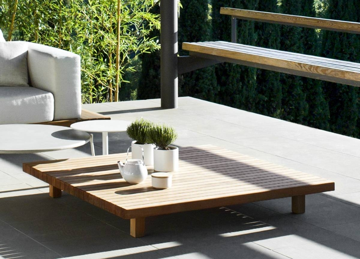 Tribu Vis A Vis Garden Coffee Table - Tribu Outdoor Furniture At in Wooden Garden Coffee Tables (Image 25 of 30)