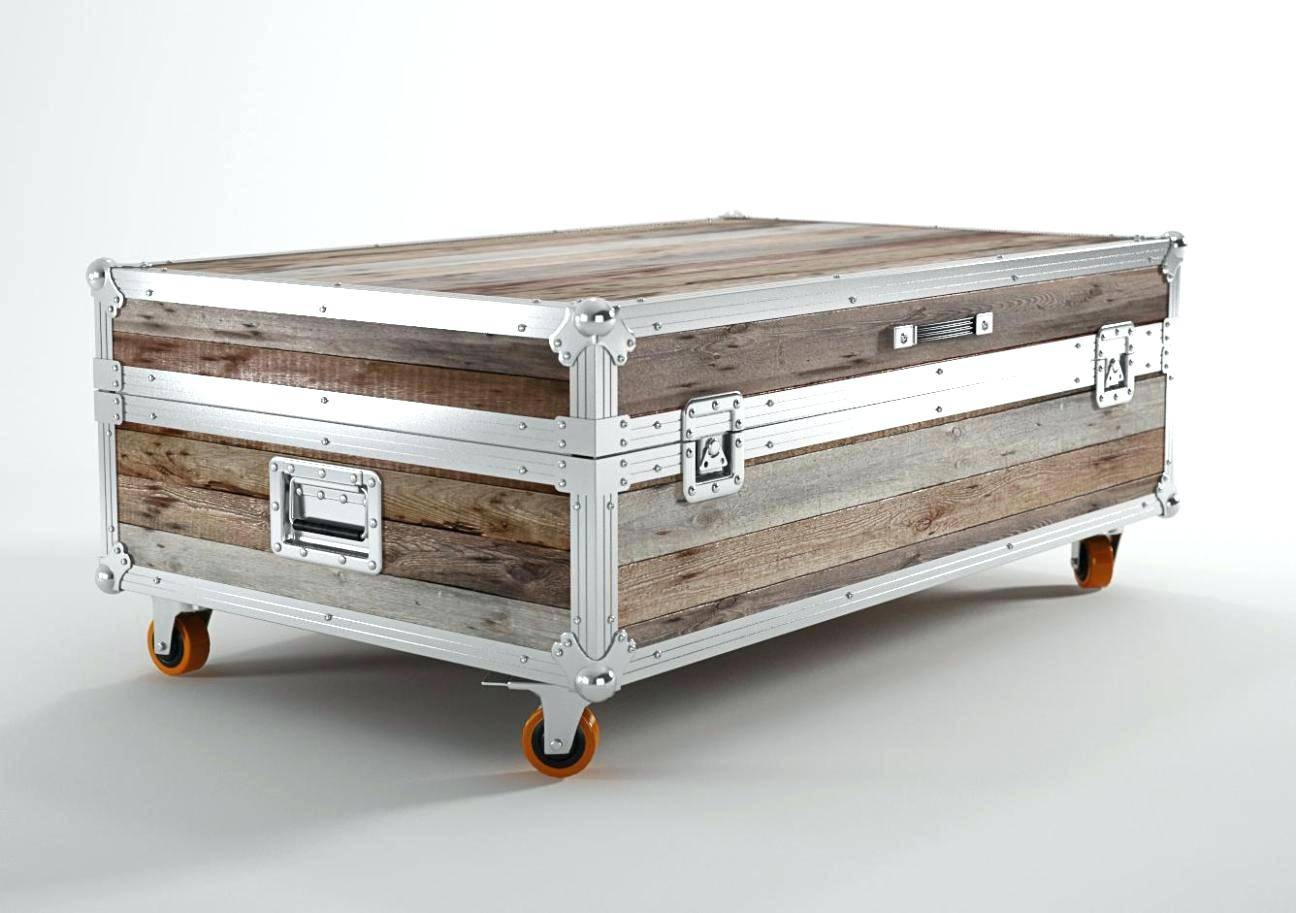 Trunk Coffee Table Canada | Coffee Tables Decoration in Steamer Trunk Stainless Steel Coffee Tables (Image 24 of 30)
