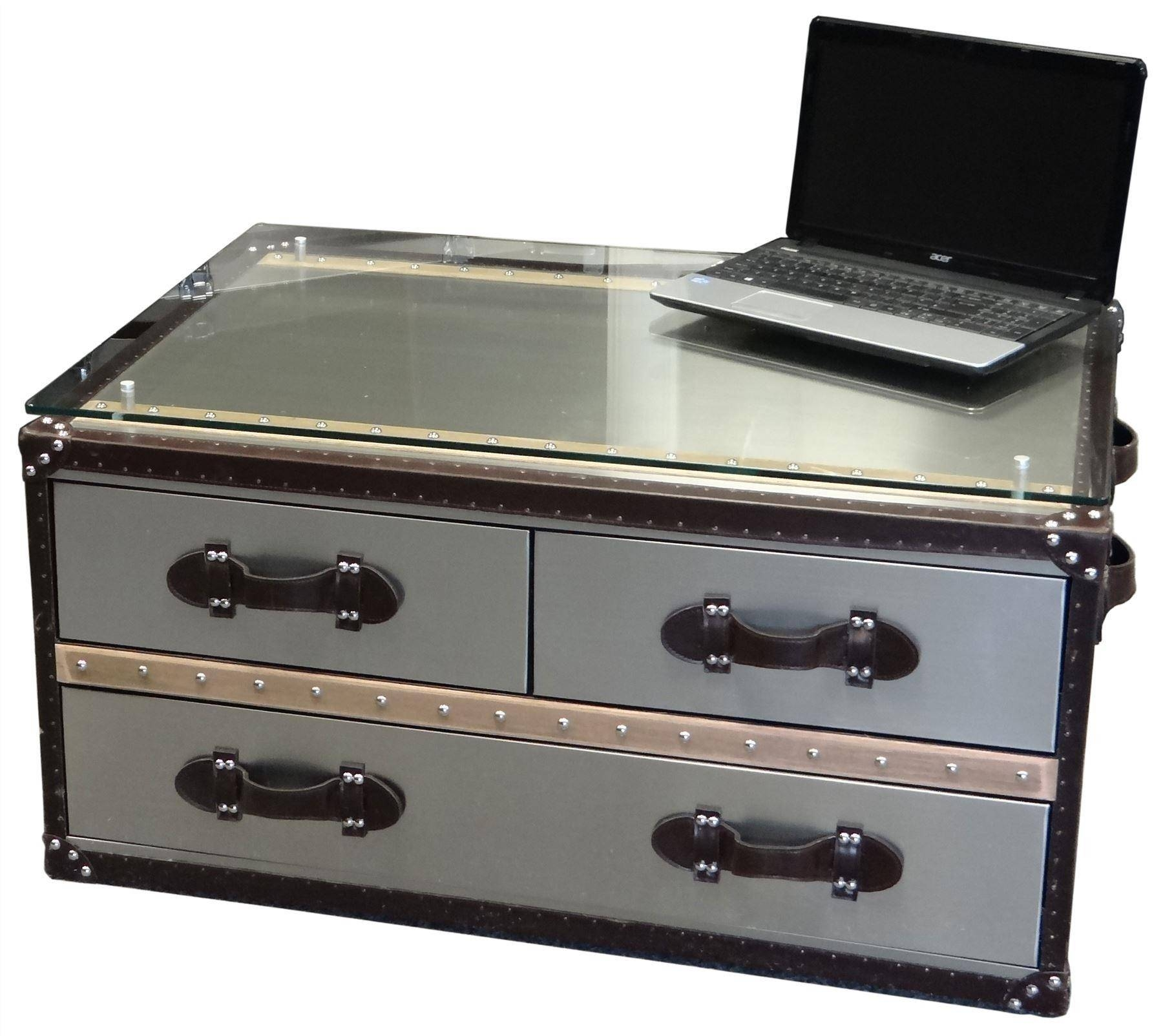 30 s Stainless Steel Trunk Coffee Tables