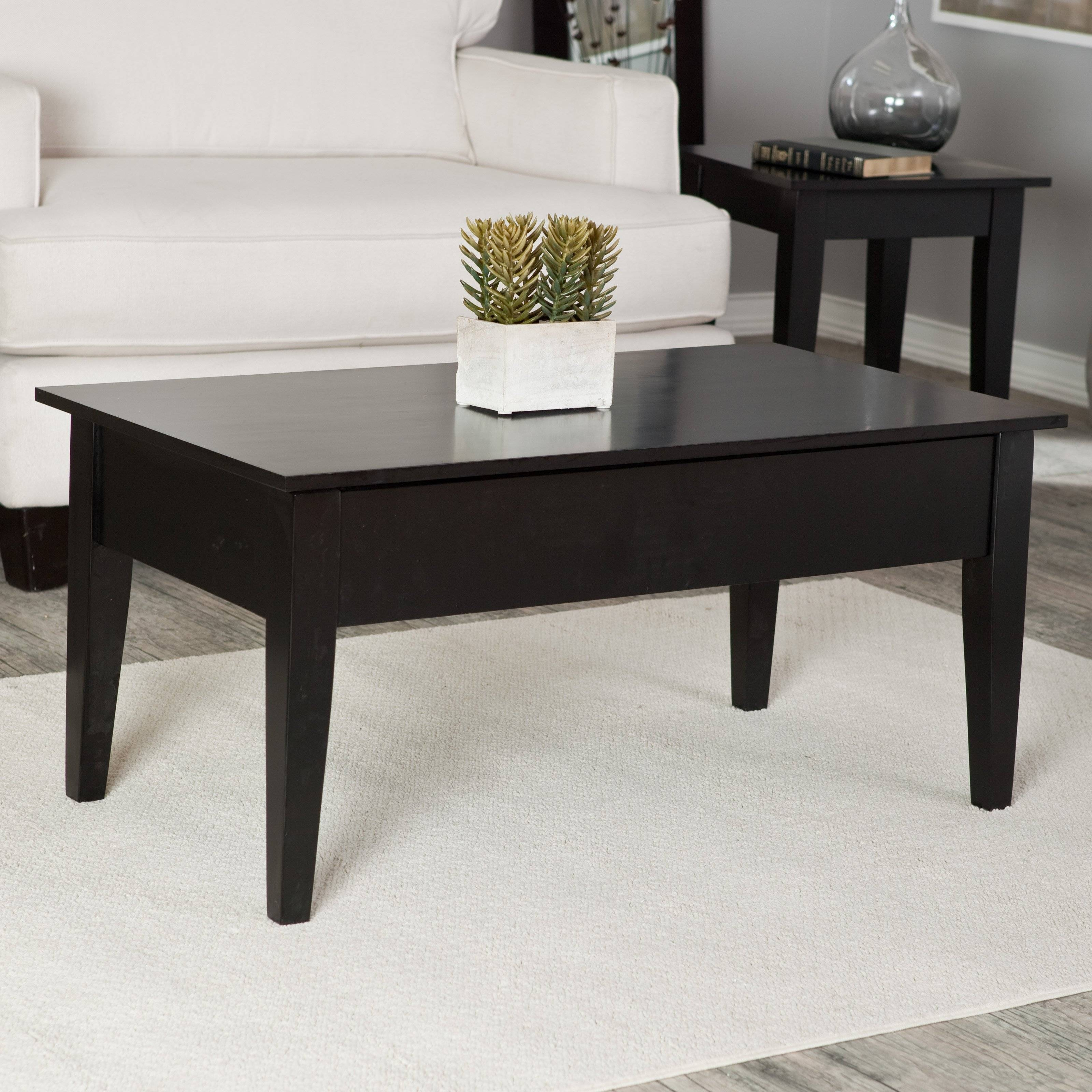 Turner Lift Top Coffee Table - Black | Hayneedle with Black Coffee Tables (Image 30 of 30)