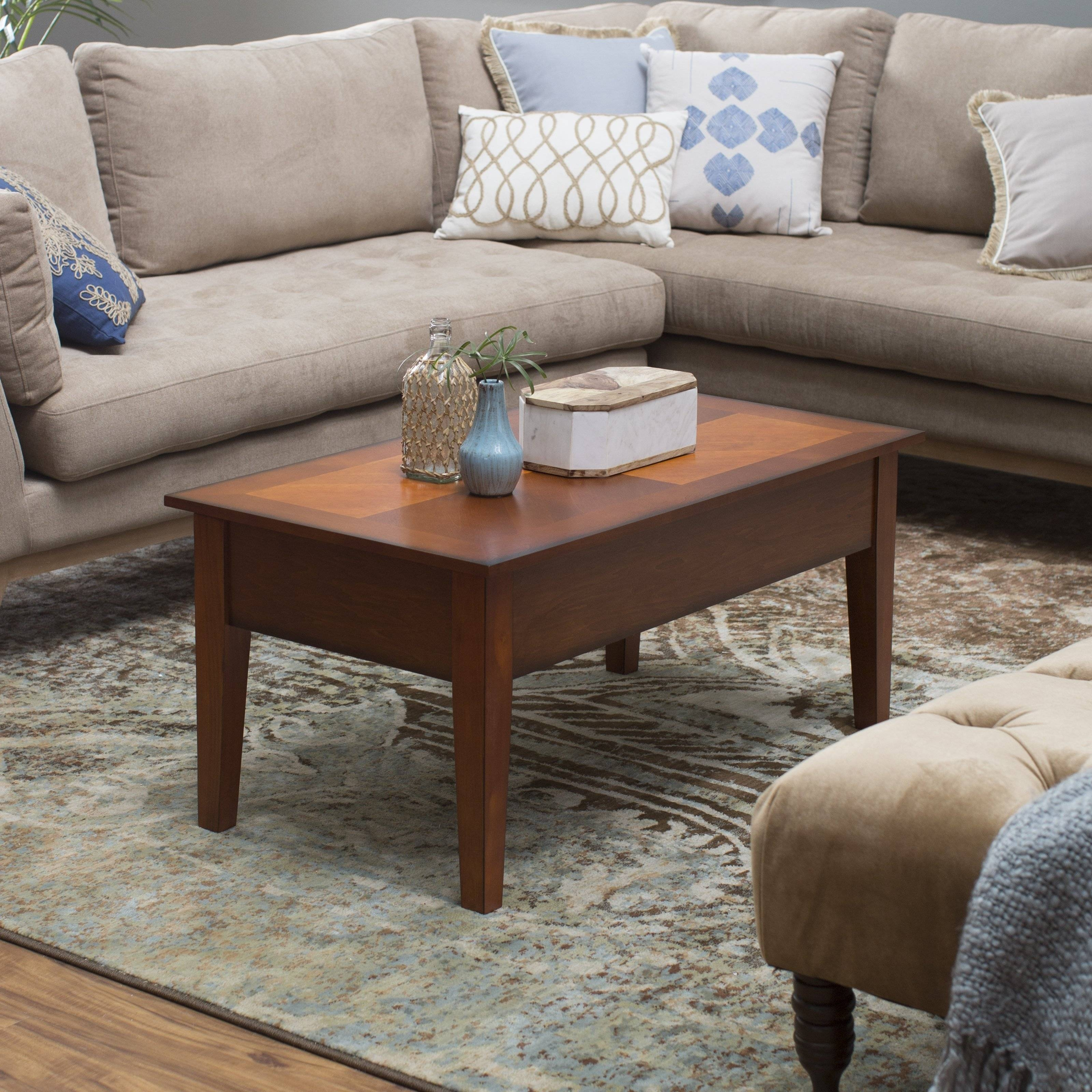 Turner Lift Top Coffee Table - Espresso | Hayneedle for Rising Coffee Tables (Image 26 of 30)