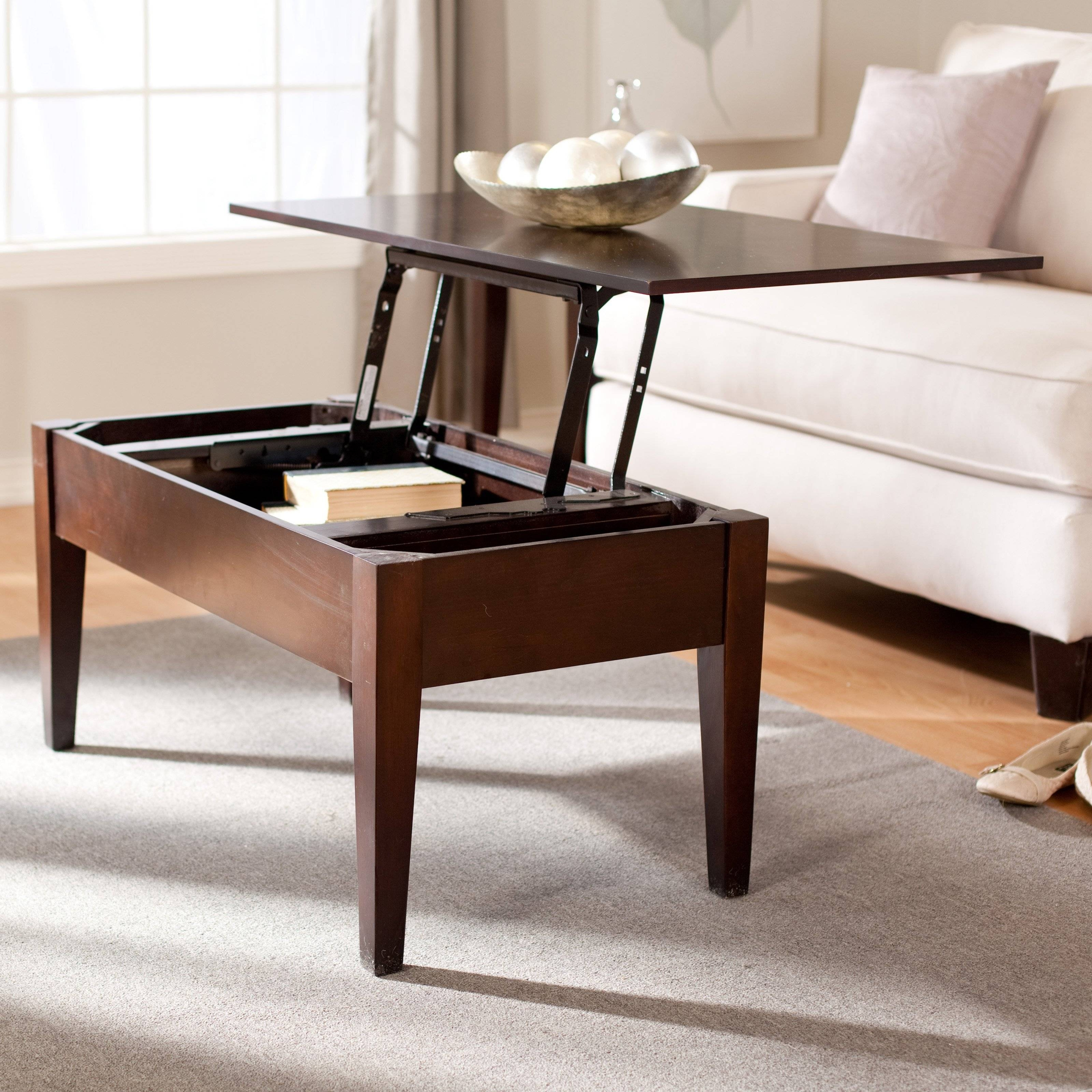 Turner Lift Top Coffee Table - Espresso | Hayneedle inside Coffee Tables Extendable Top (Image 29 of 30)