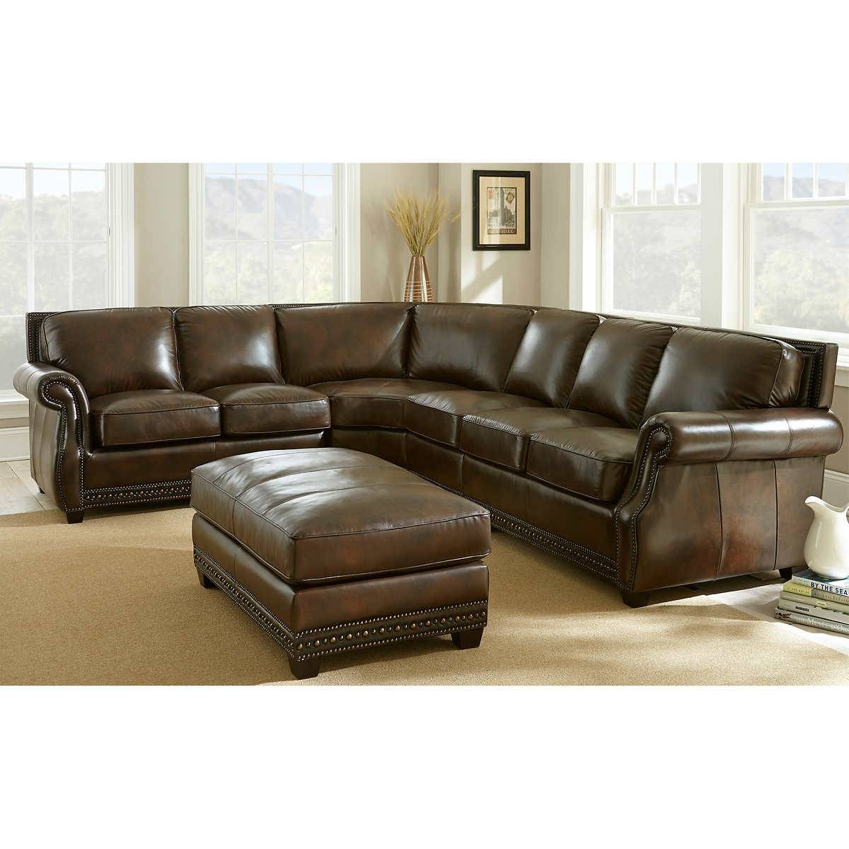 Turquoise Leather Sectional Sofa - Cleanupflorida for Abbyson Living Charlotte Dark Brown Sectional Sofa And Ottoman (Image 28 of 30)
