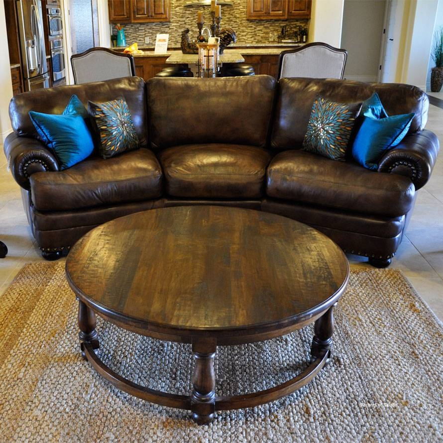 Tuscan Style Living Room Furniture Coffee Tables regarding Dark Wood Round Coffee Tables (Image 30 of 30)