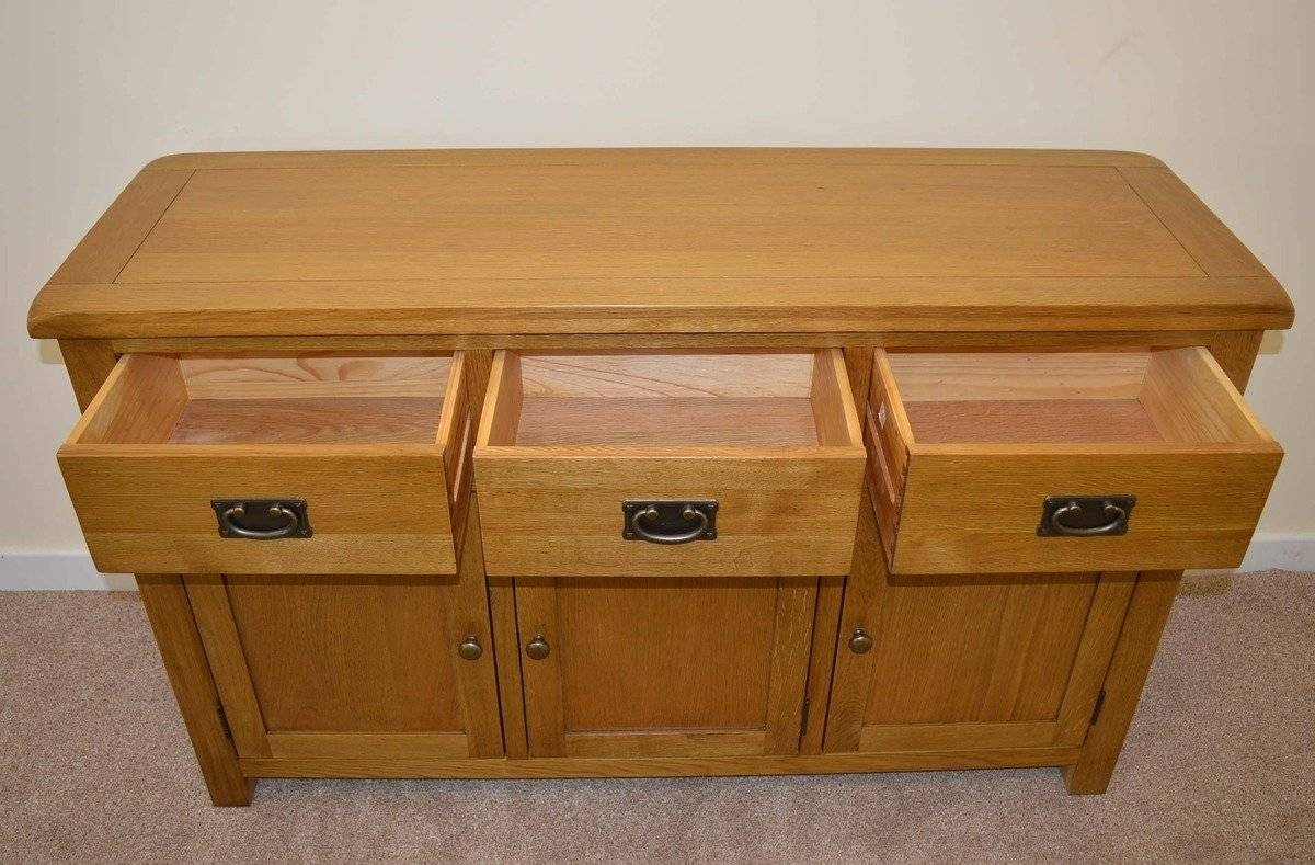 Tuscany Oak 3 Door Sideboard | Tuscany Oak Sideboards | Furniture for Tuscany Sideboards (Image 24 of 30)