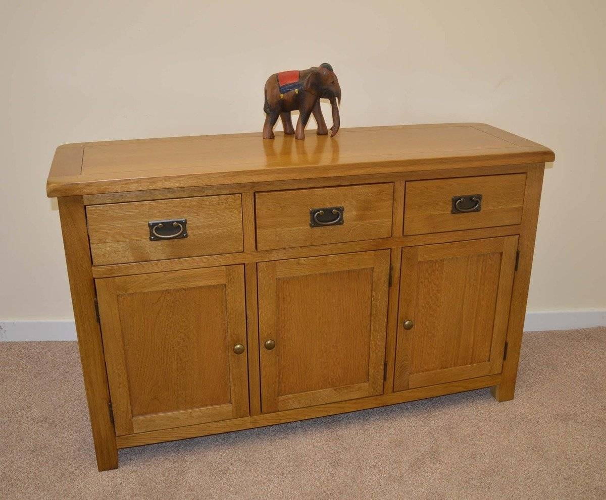 Tuscany Oak 3 Door Sideboard | Tuscany Oak Sideboards | Furniture for Tuscany Sideboards (Image 23 of 30)