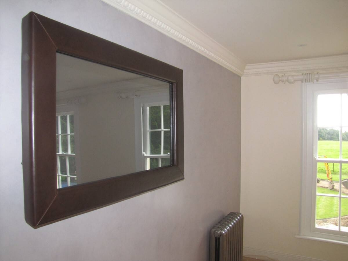 Tv Mirror Frame Kit – Harpsounds.co for Leather Mirrors (Image 25 of 25)