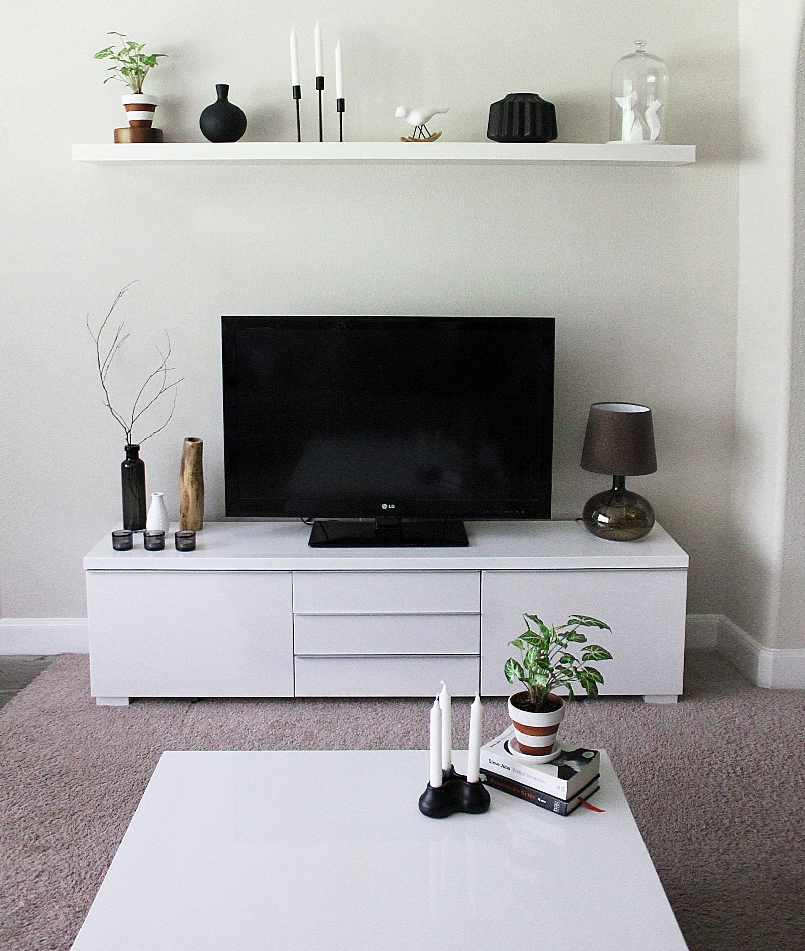 Tv Stands. 2017 Best Assembled White Corner Tv Stands Collection with regard to Tv Cabinet and Coffee Table Sets (Image 28 of 30)