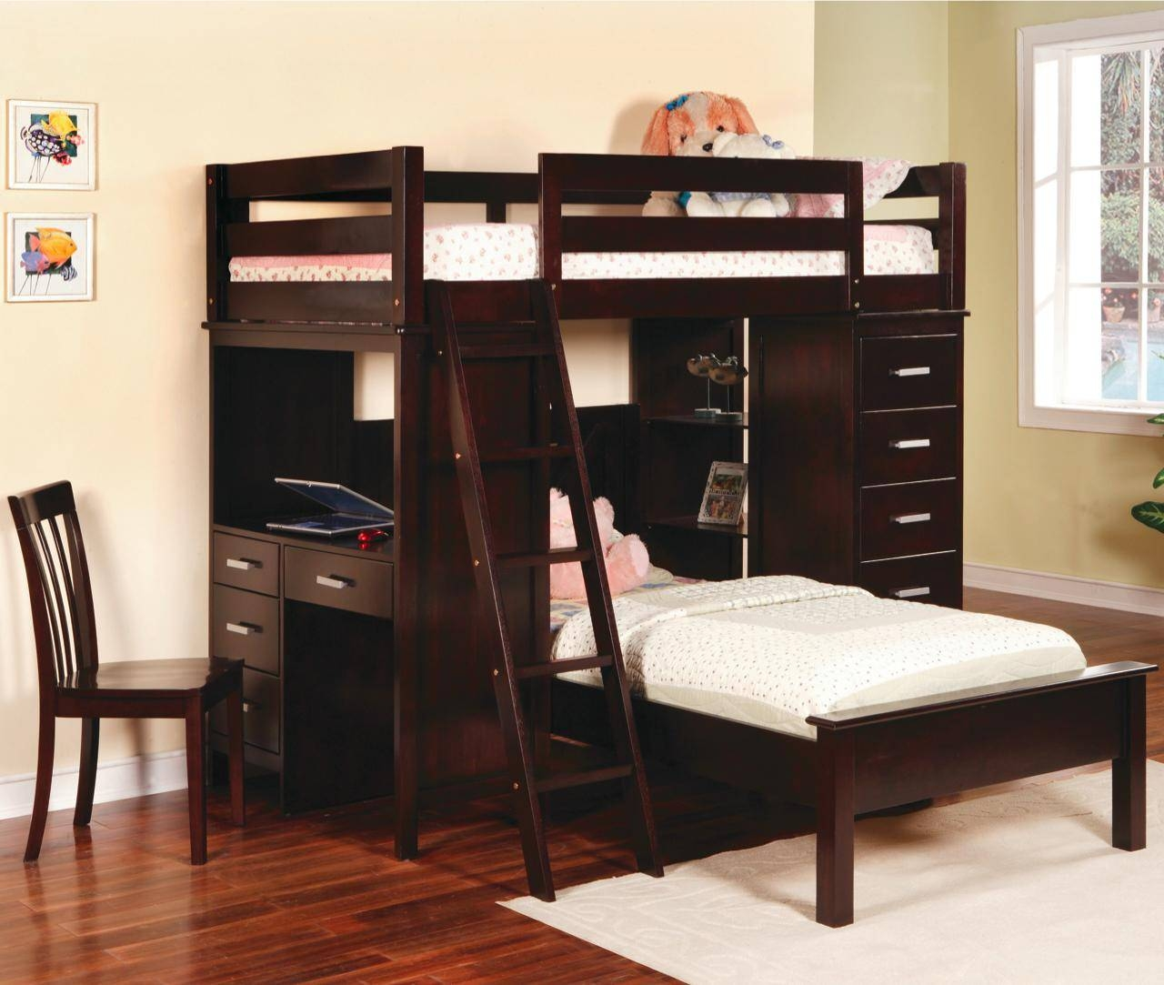 Twin Loft Beds With Desk Bedroom Furniture Nightstands Media in Desk Sideboards (Image 29 of 30)