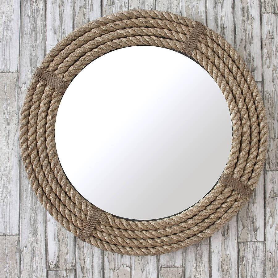 Twisted Rope Round Mirrordecorative Mirrors Online for Ornate Round Mirrors (Image 25 of 25)
