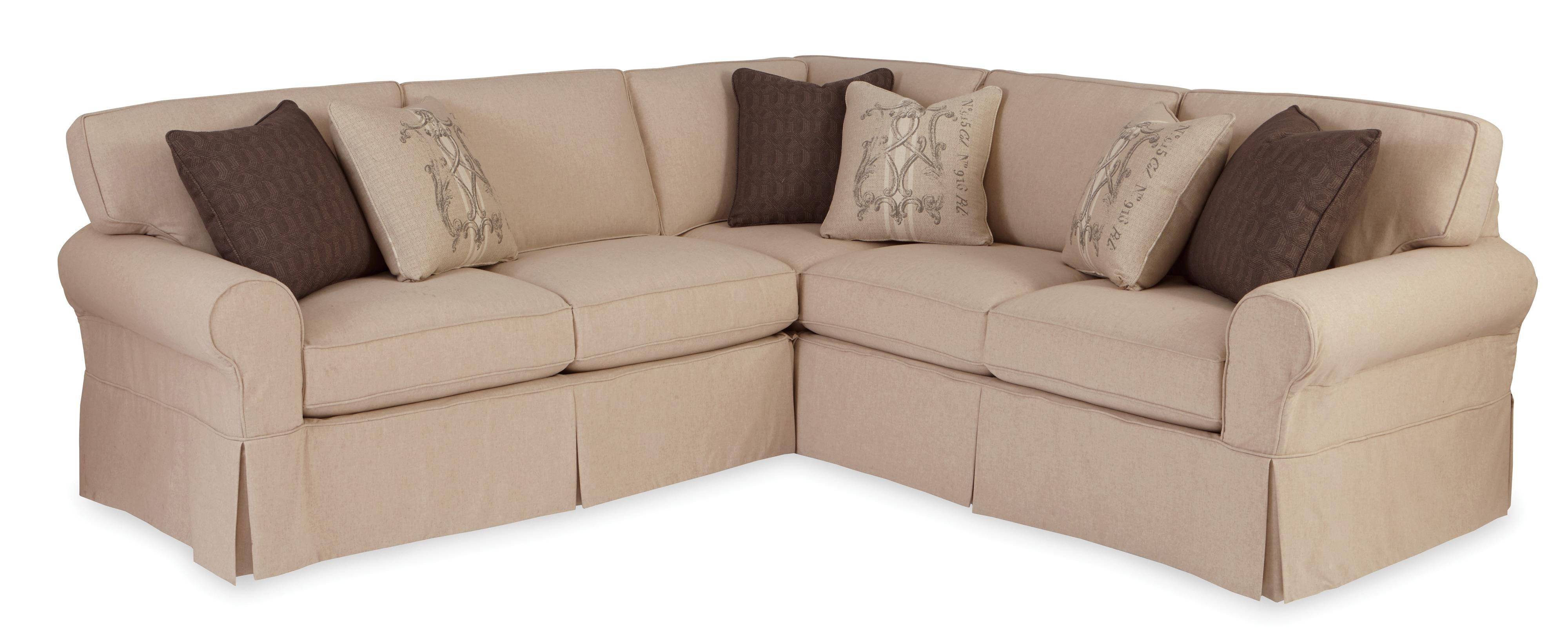 Two Piece Slipcovered Sectional Sofa With Raf Return Sofa pertaining to Craftmaster Sectional Sofa (Image 30 of 30)