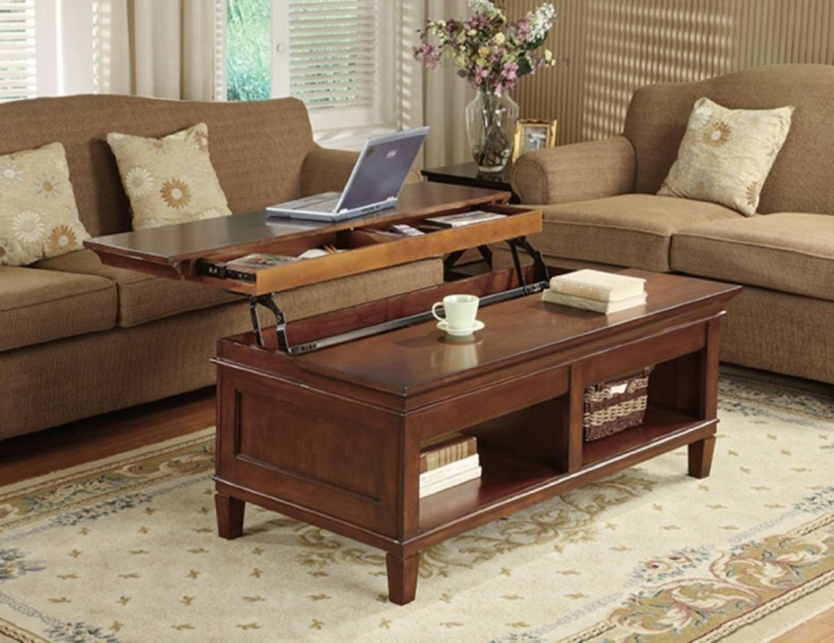 Two Tone Coffee Table – Two Tone Square Coffee Table, Two Tone regarding Pop Up Top Coffee Tables (Image 30 of 30)