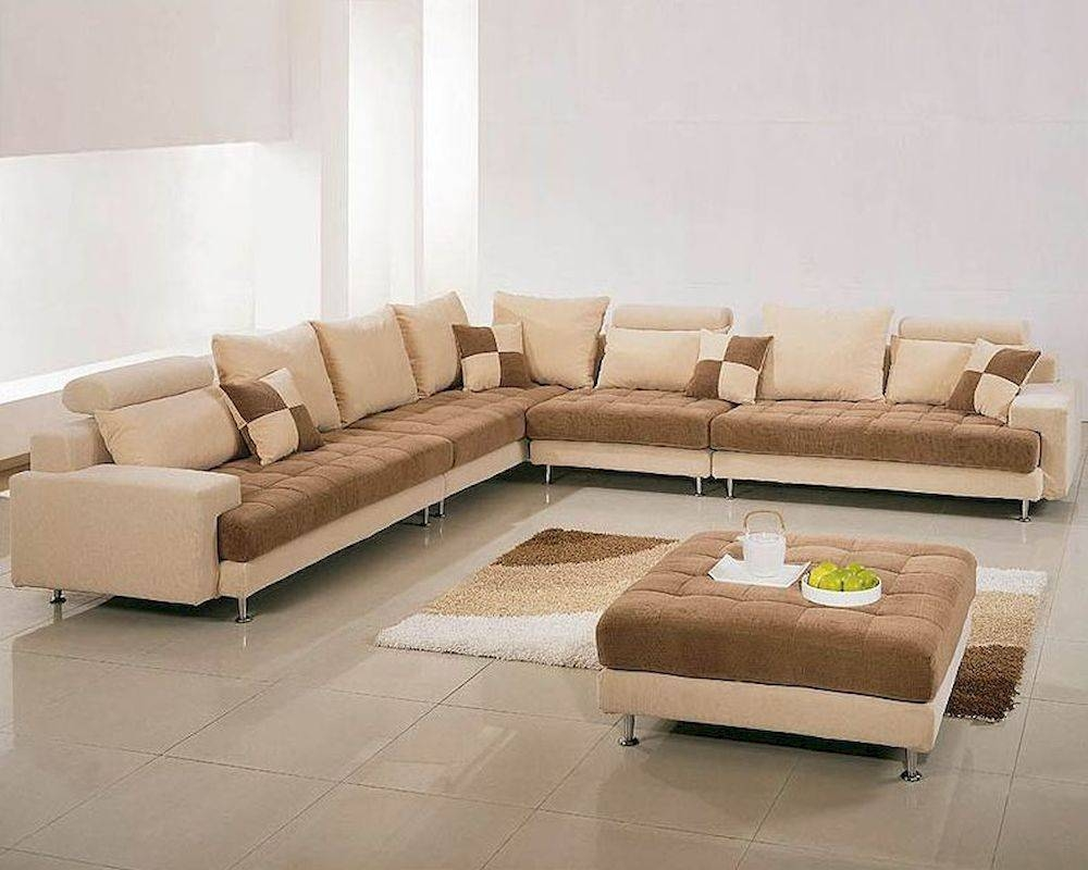 Two Tone Fabric Contemporary Sectional Sofa Set 44Lg60B in Two Tone Sofas (Image 23 of 30)