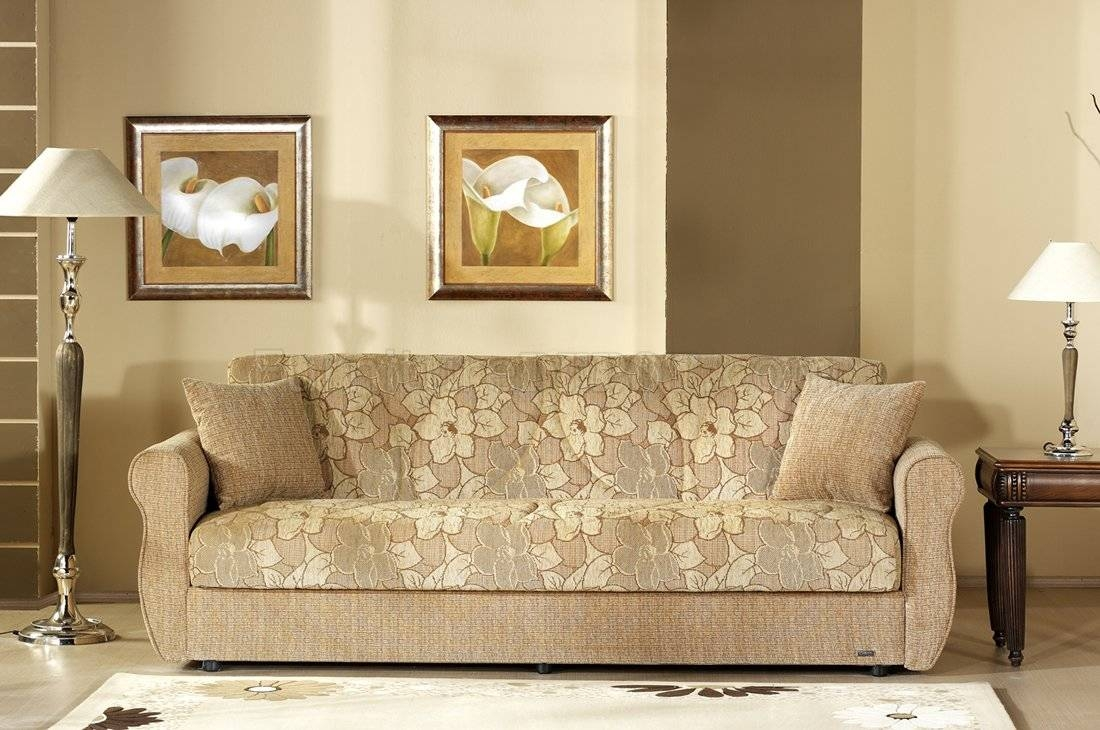 Two-Tone Fabric Living Room W/storage Sleeper Sofa intended for Two Tone Sofas (Image 27 of 30)
