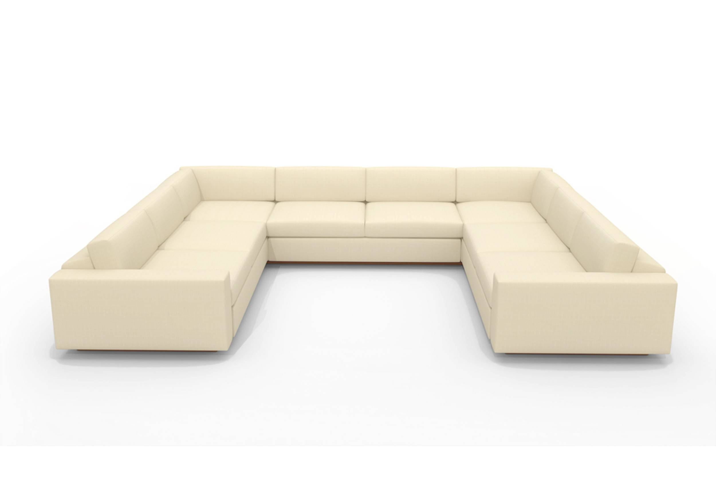 U Shaped Sectional With Chaise Design | Homesfeed inside C Shaped Sofa (Image 29 of 30)