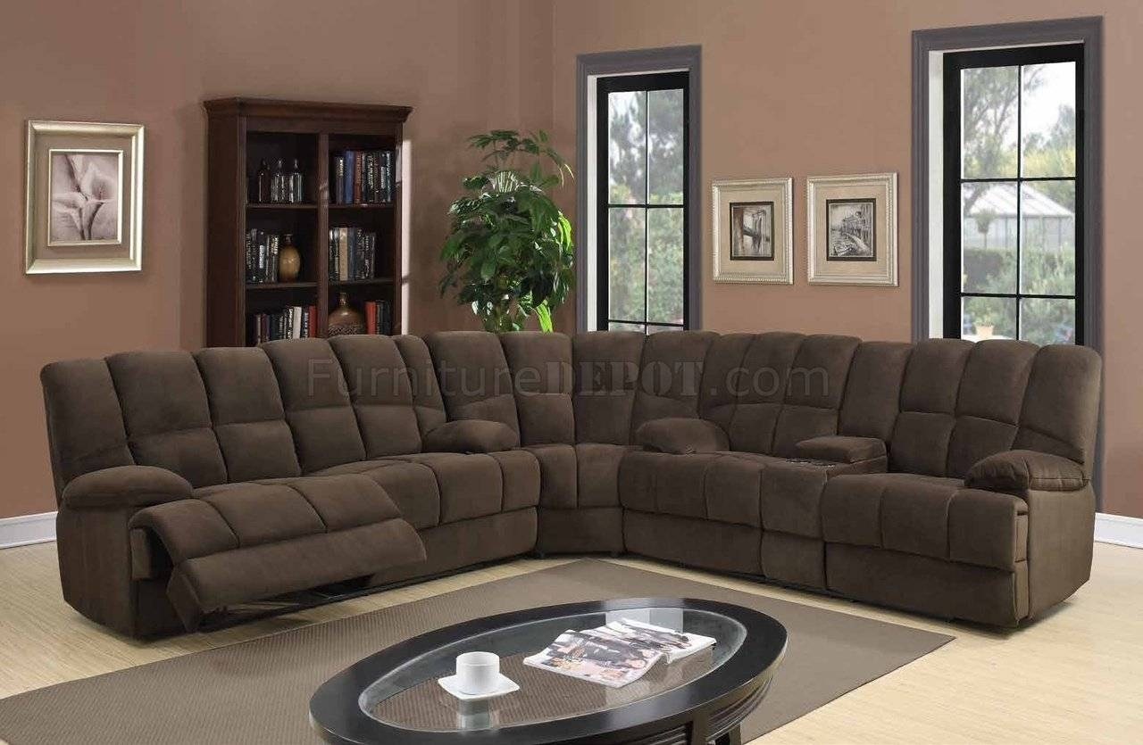 U201 Motion Sectional Sofa In Chocolate Fabricglobal intended for Motion Sectional Sofas (Image 26 of 30)