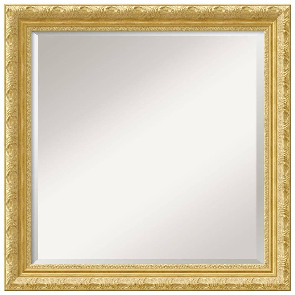 U555U | Images: Gold Frame Border Square within Square Gold Mirrors (Image 24 of 25)