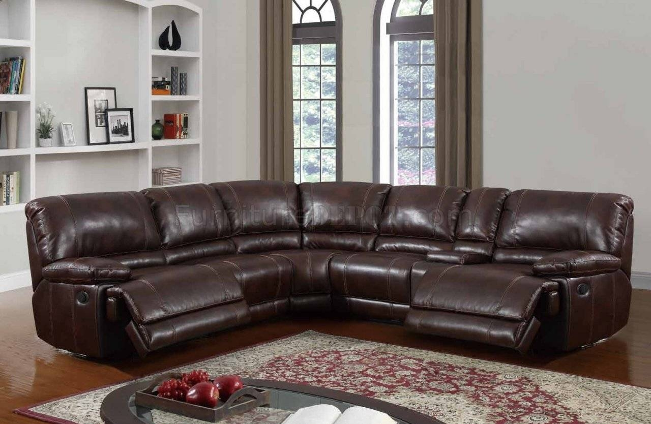 U7303C Motion Sectional Sofa In Walnut Leather Gelglobal inside Leather Motion Sectional Sofa (Image 23 of 25)