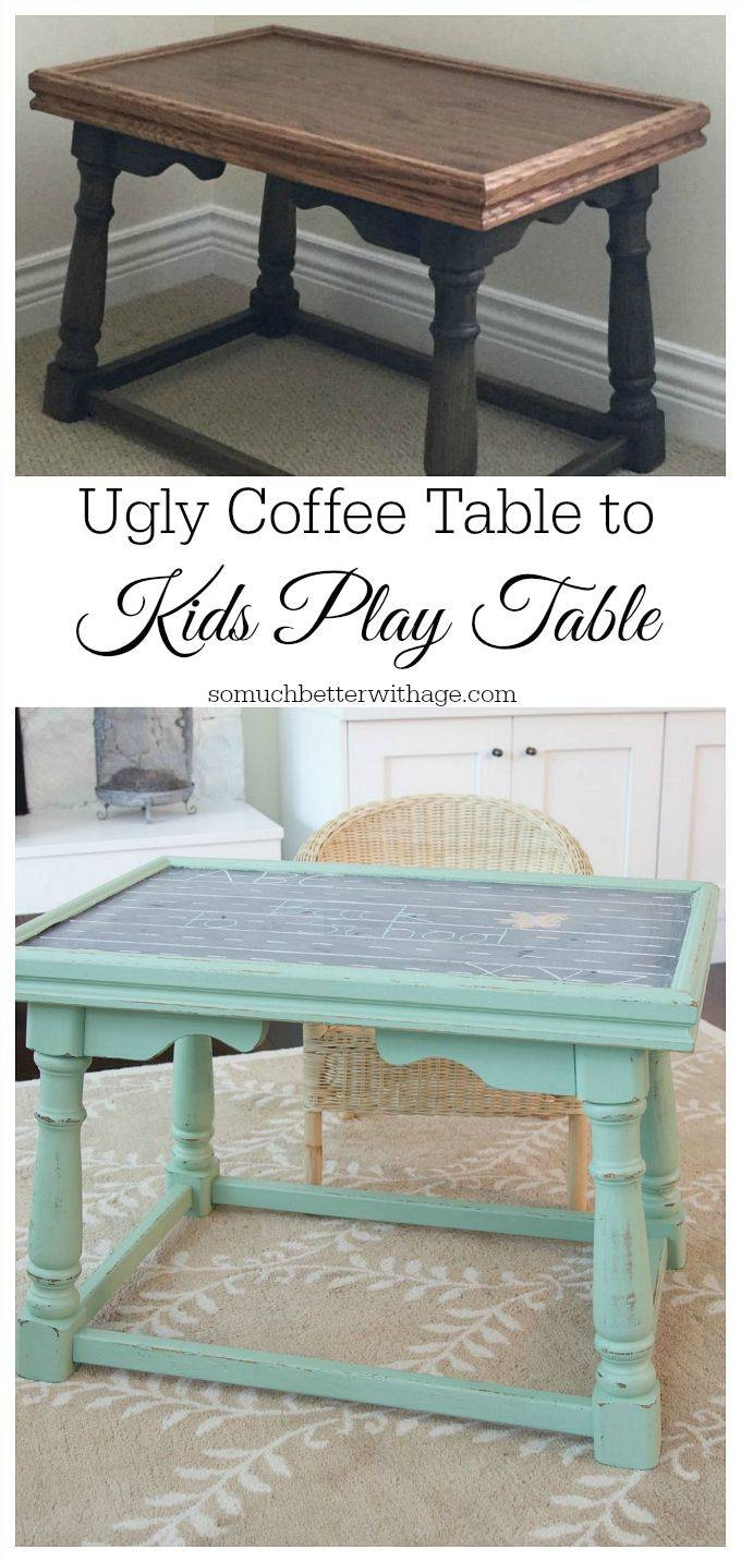 Ugly Coffee Table To Kids' Homework Table – Ella Claire Intended For Kids Coffee Tables (View 27 of 30)