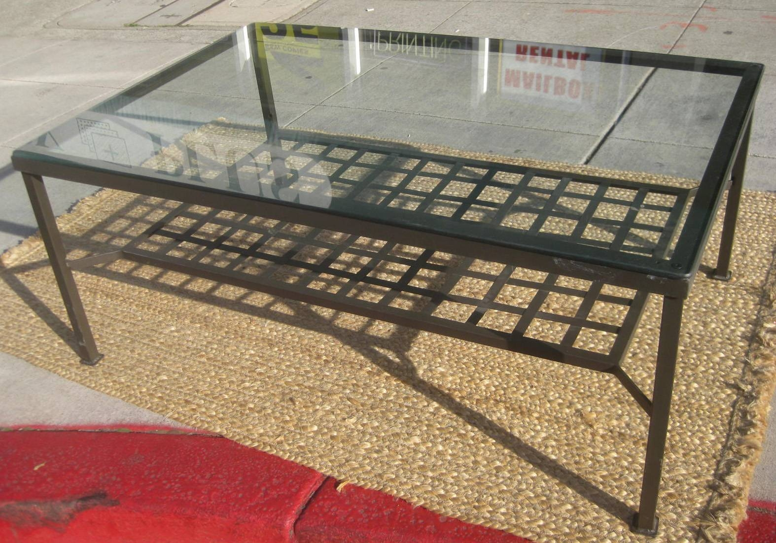 Uhuru Furniture & Collectibles: Sold - Metal & Glass Coffee Table inside Glass And Metal Coffee Tables (Image 30 of 30)