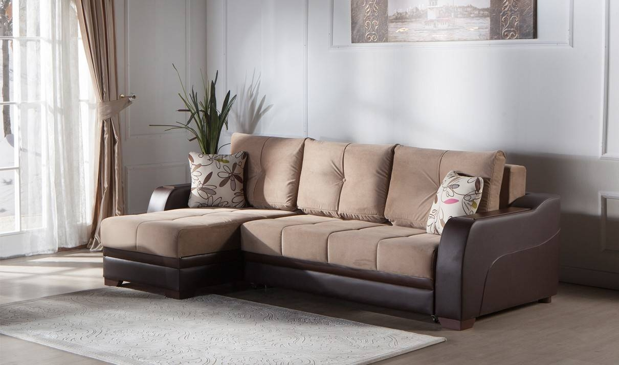 Ultra Convertible Sectional Sofa In Lilyum Vizonistikbal intended for Convertible Sectional Sofas (Image 27 of 30)