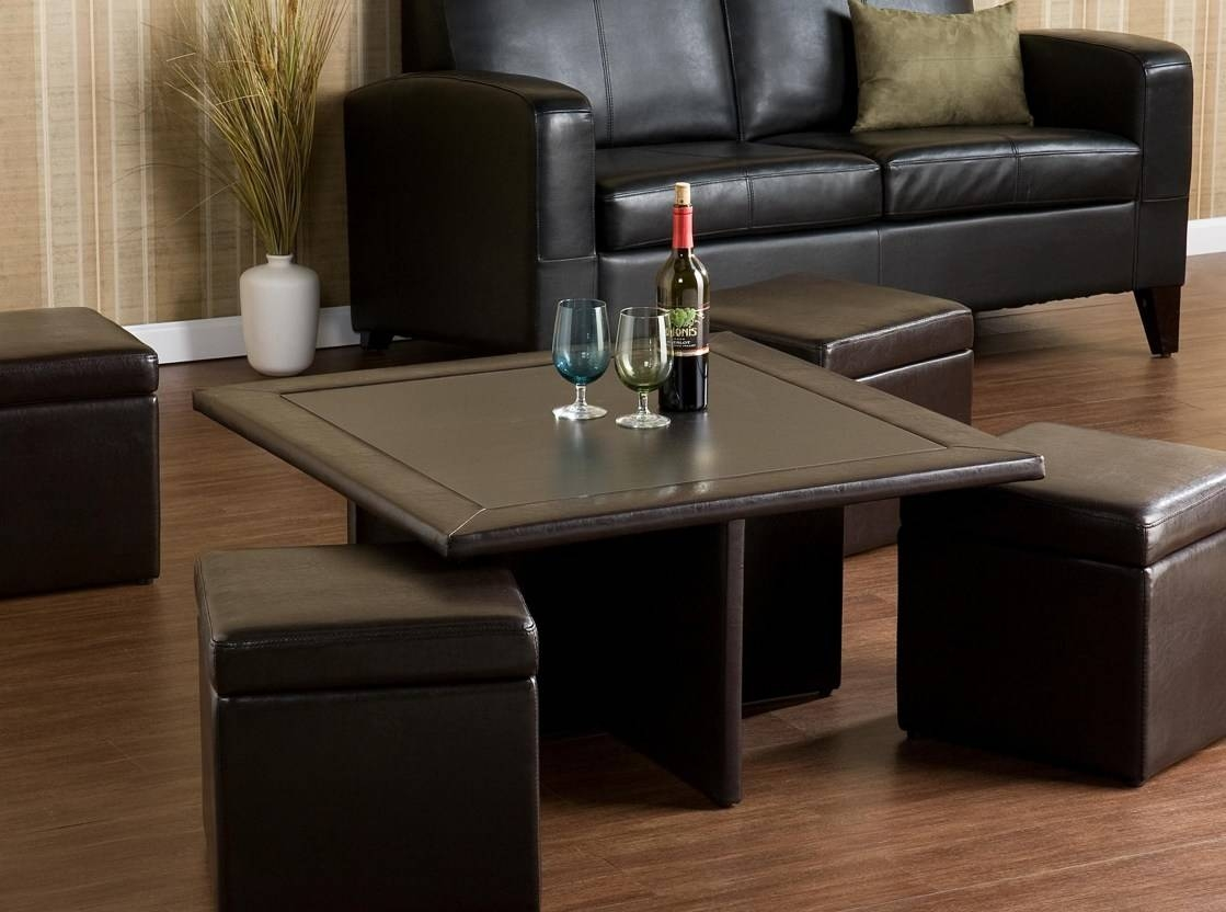 Uncategorized : Beautiful Coffee Table Ottoman Sets With Leather Throughout Coffee Tables With Seating And Storage (View 30 of 30)