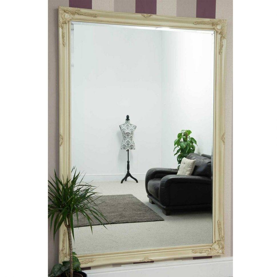 Uncategorized : Big White Wall Mirror Large Elegant Wall Mirrors regarding Big White Mirrors (Image 23 of 25)