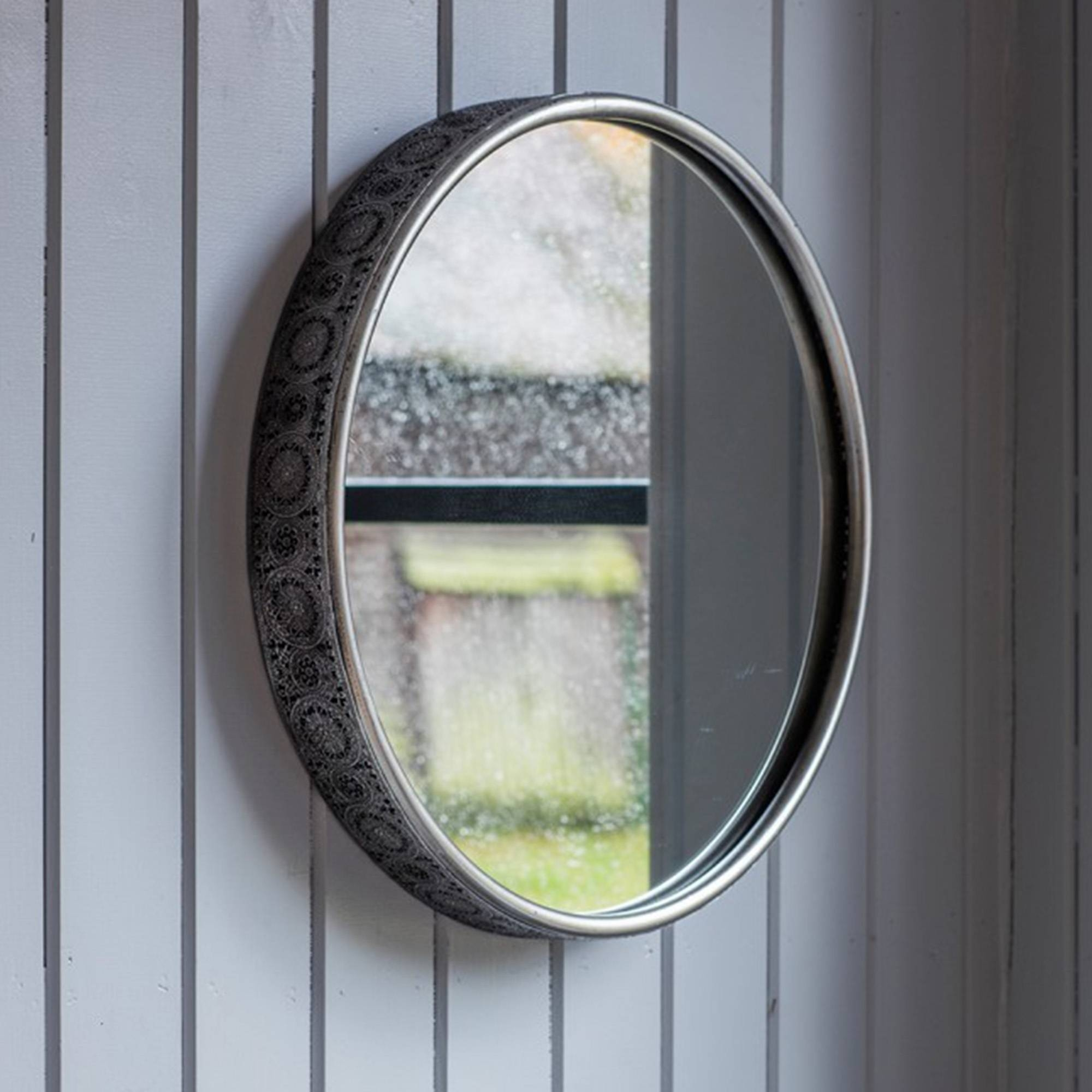 Uncategorized : Large Mirror Large Wood Framed Mirror Grey Wall within Round Bevelled Mirrors (Image 24 of 25)