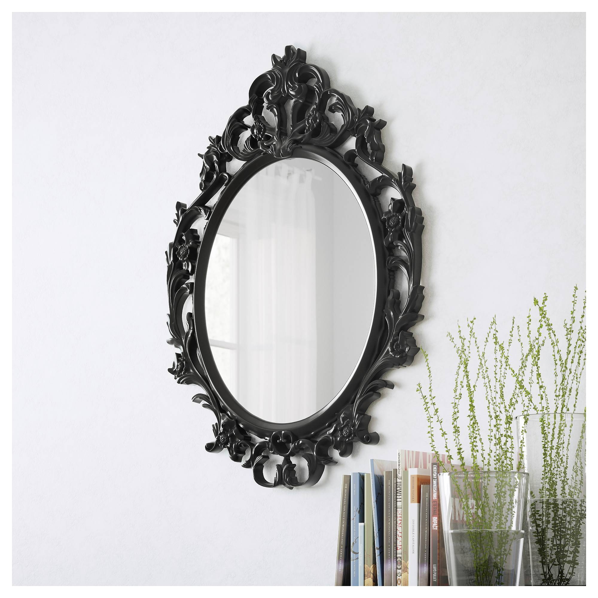 Ung Drill Mirror – Ikea Regarding Black Baroque Mirrors (View 24 of 25)